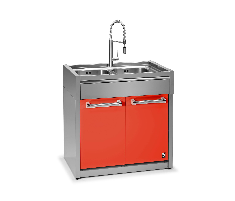 genesi double bowl sink unit k chensp lbecken von steel architonic. Black Bedroom Furniture Sets. Home Design Ideas