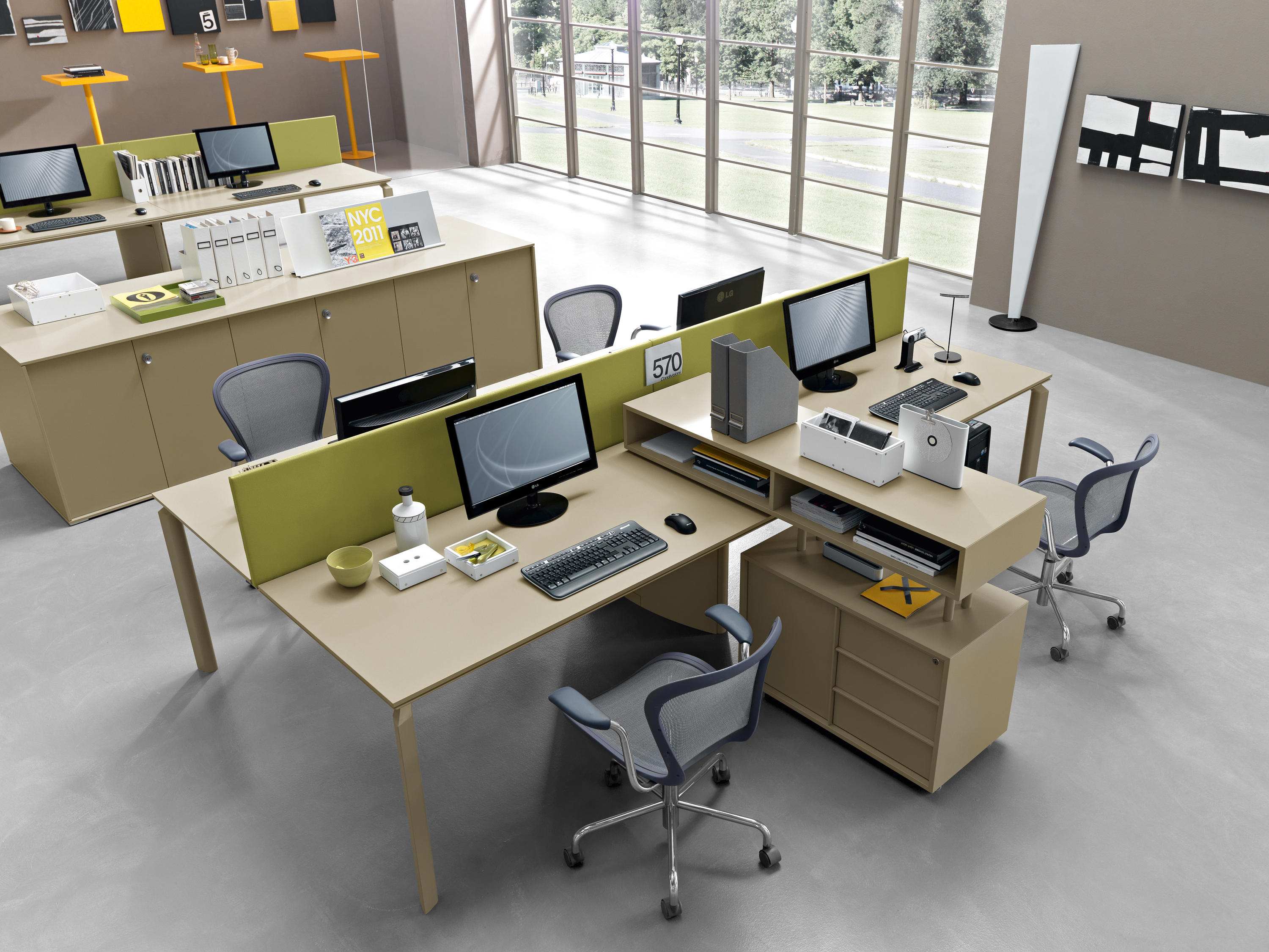 Anyware desking systems from martex architonic - Layouts hoogte ...