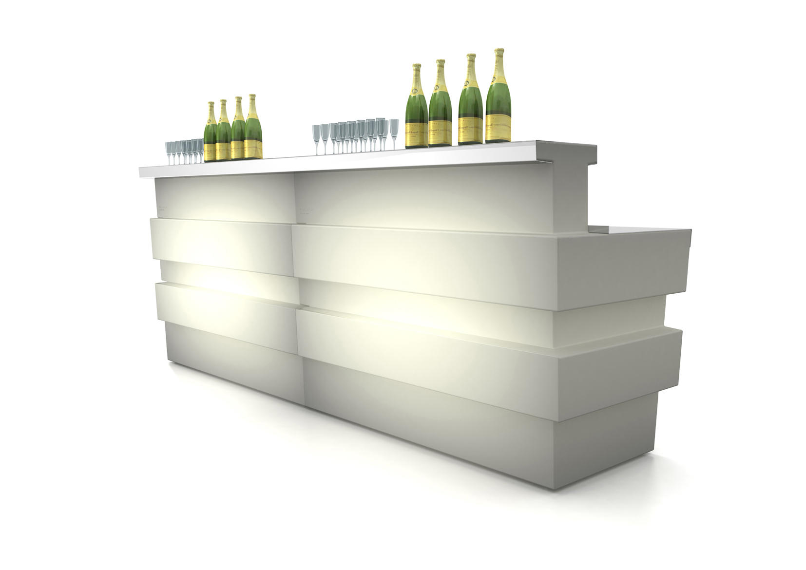 tetris luce bartresen bartheken von pedrali architonic. Black Bedroom Furniture Sets. Home Design Ideas