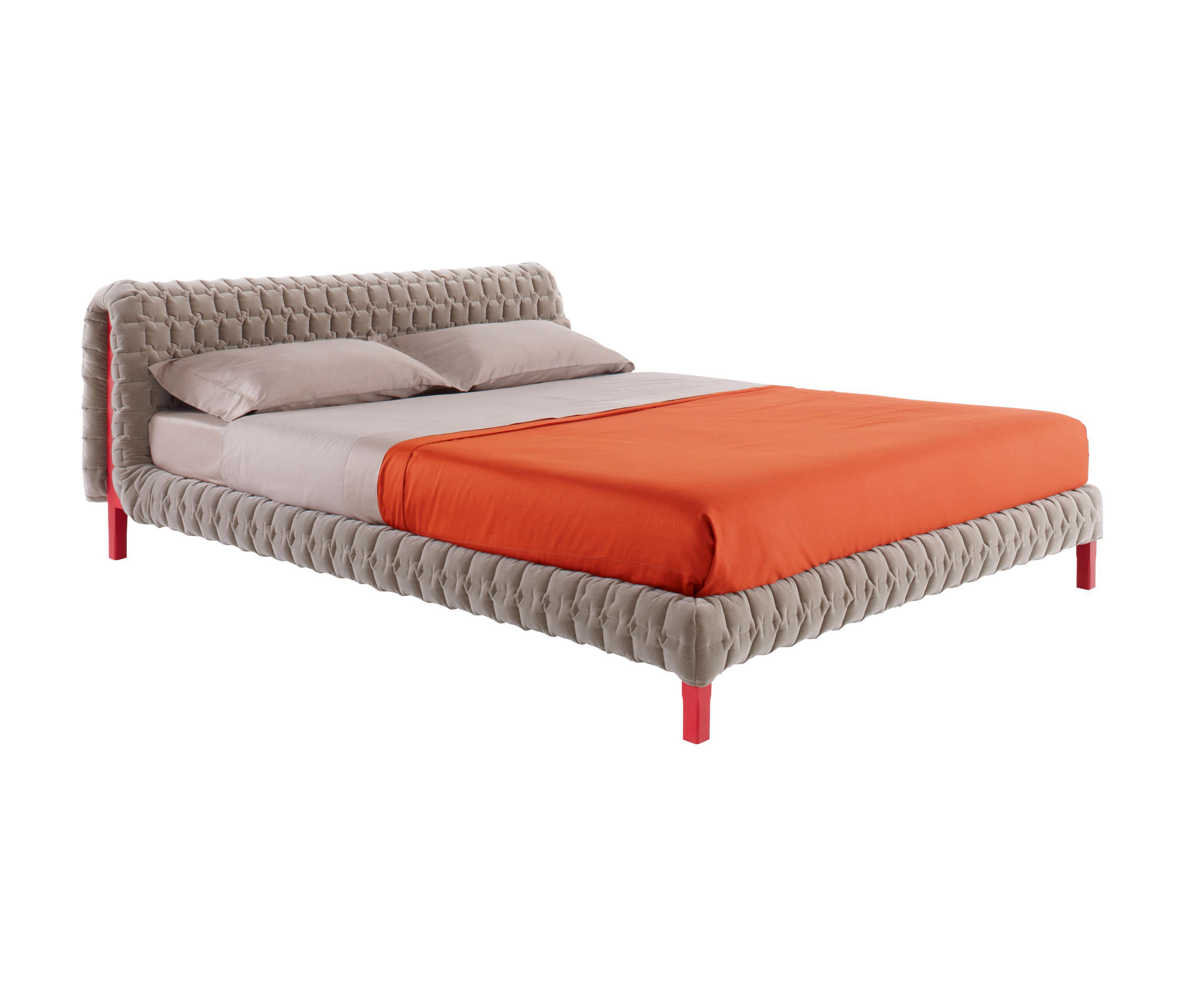 Bedombouw 140 Bij 200.Ruche Bed 140 X 200 Low Headboard Low Feet Beds From Ligne Roset