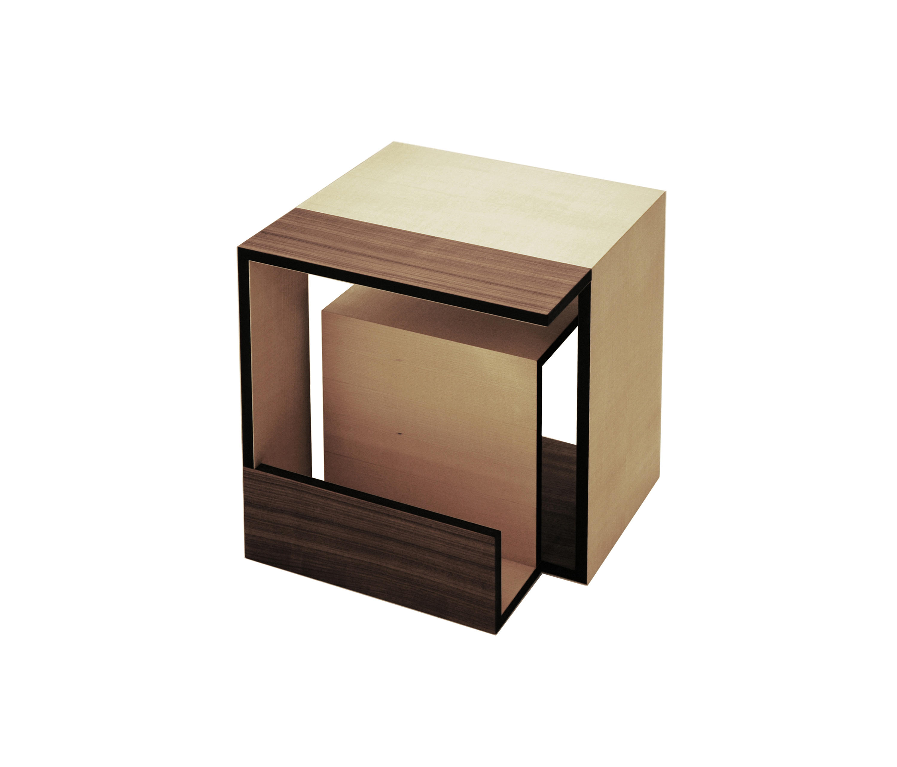 moebius cube side tables from xbritt moebel architonic. Black Bedroom Furniture Sets. Home Design Ideas