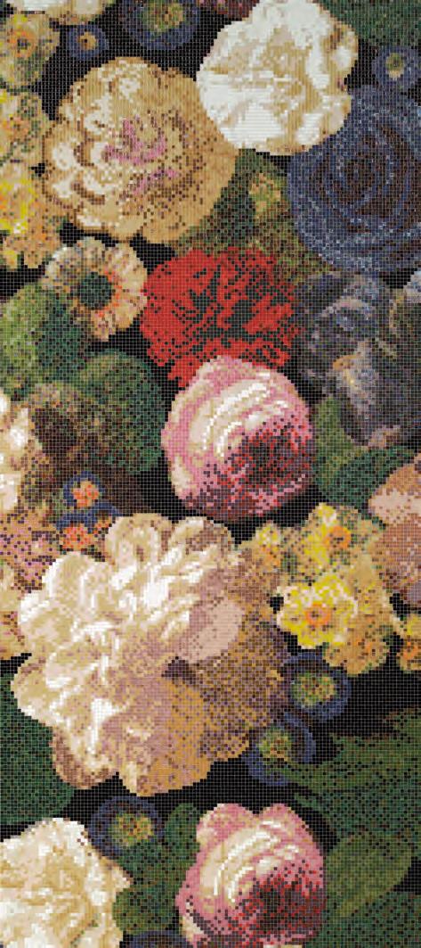 Bouquet A Mosaic Glass Mosaics From Bisazza Architonic