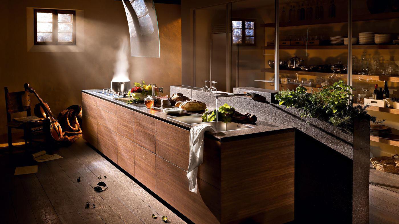 artematica noce tattile fitted kitchens valcucine