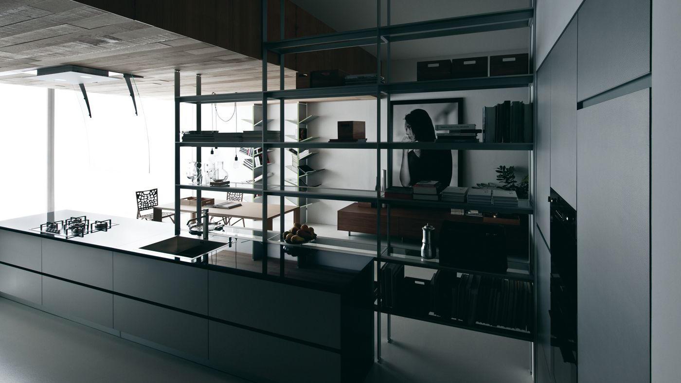 Riciclantica laminato alluminio rigato cucine a parete - Cucine a parete ...