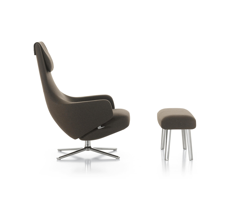 Repos panchina lounge chairs from vitra architonic for Vitra lounge chair nachbau
