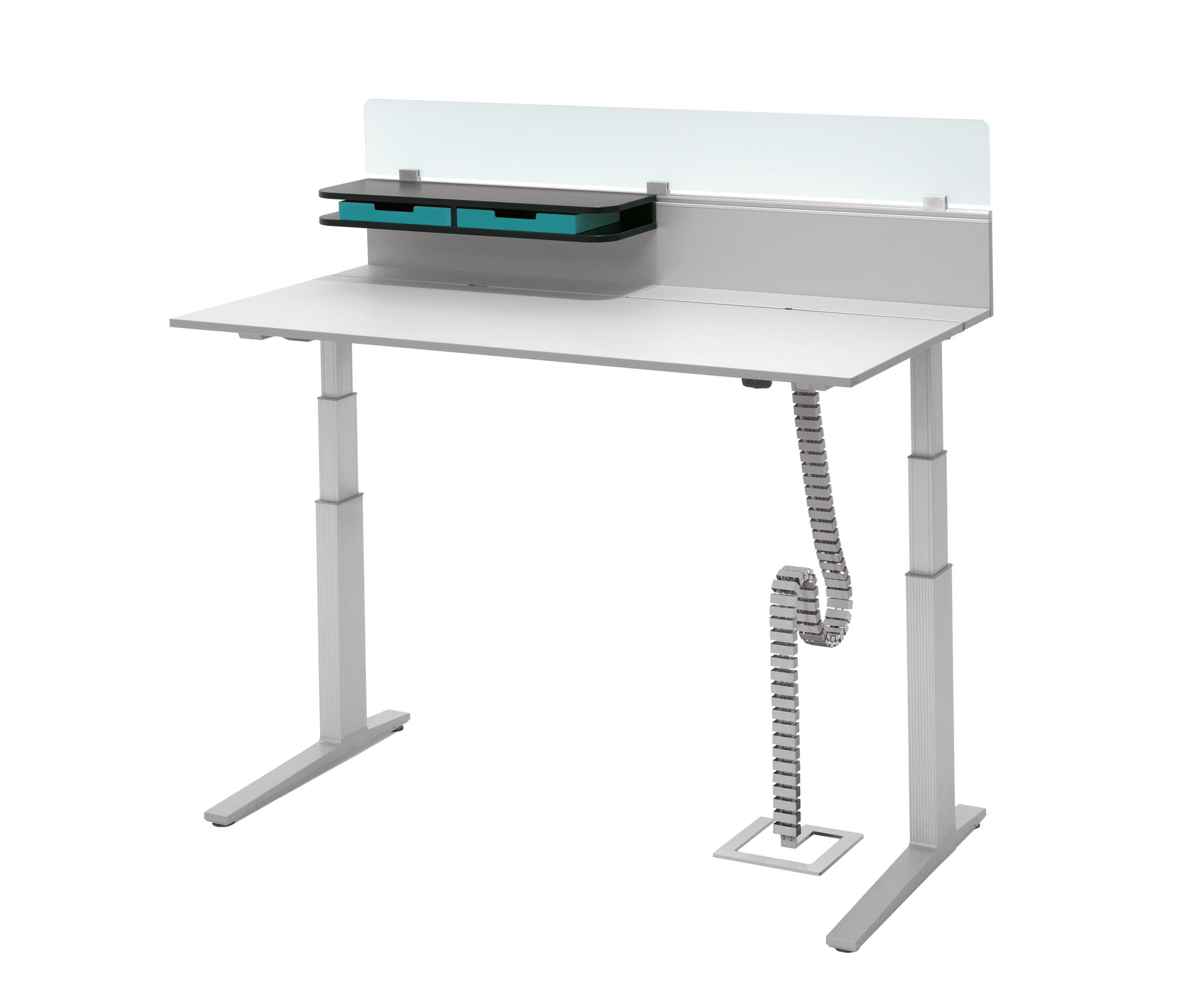 T Lift Desk By Bene Contract Tables