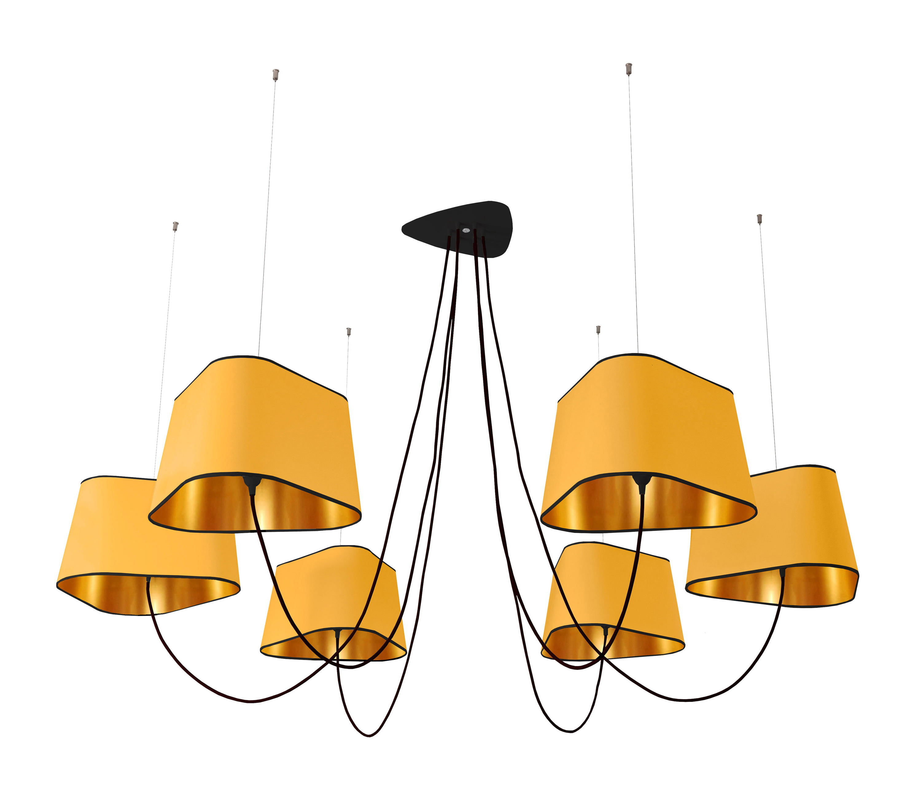 Nuage chandelier 6 large ceiling suspended chandeliers for Suspension design noir