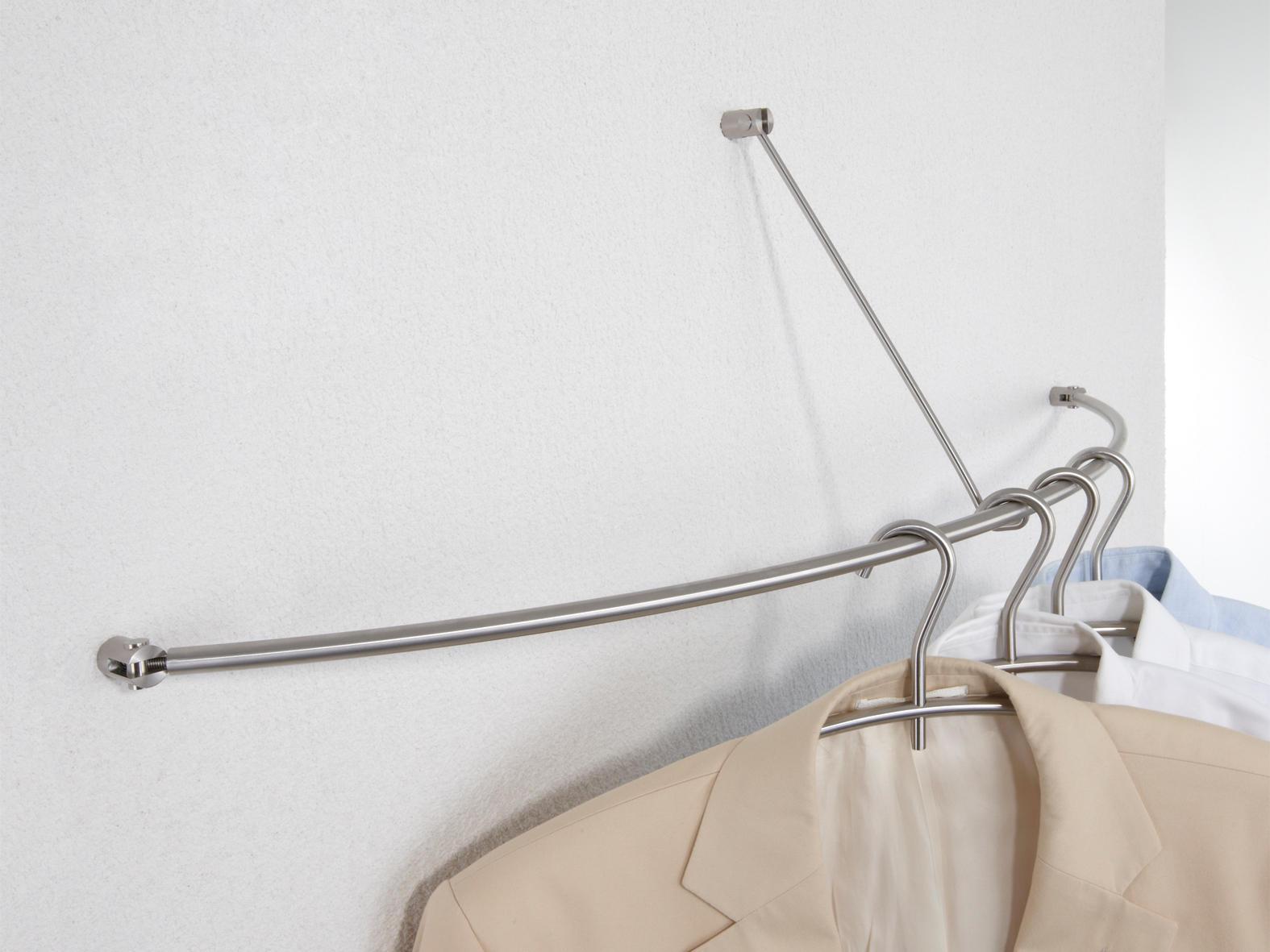 Phos Design wandgarderobe gebogen g 45 - coat racks from phos design | architonic