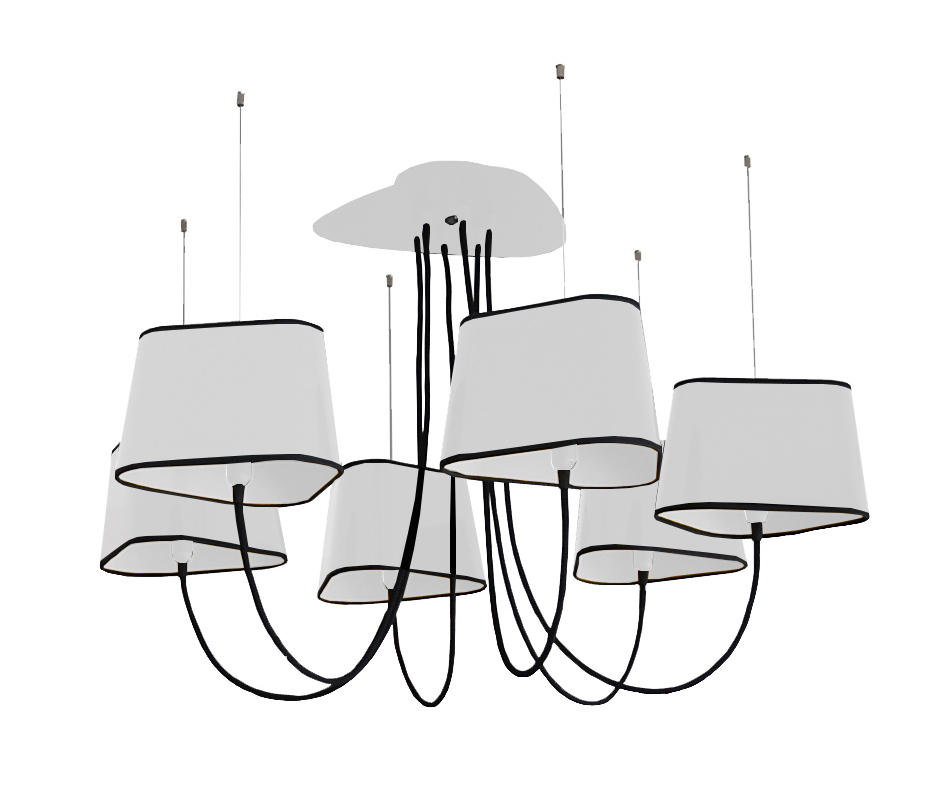 nuage chandelier 6 small ceiling suspended chandeliers from designheure architonic. Black Bedroom Furniture Sets. Home Design Ideas