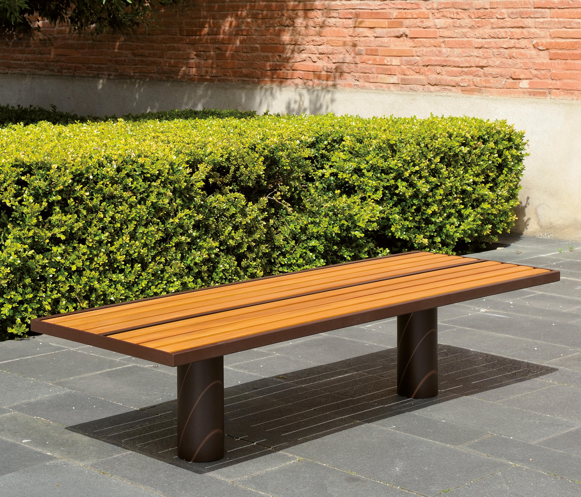 Toronto Wood Outdoor Bench By AREA | Exterior Benches ...