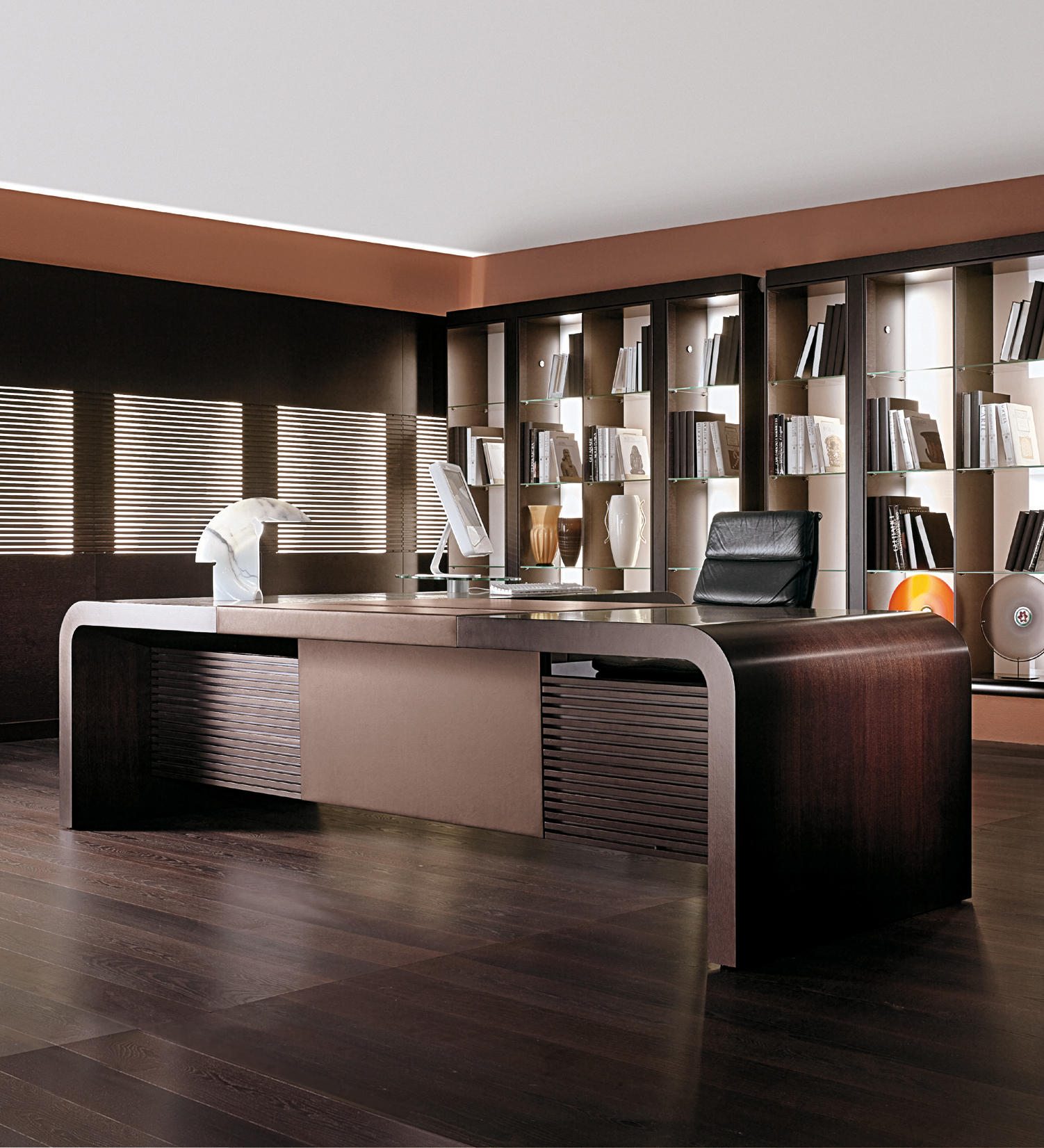 Modern Chairs Top 5 Luxury Fabric Brands Exhibiting At: TAU - Desks From ULTOM ITALIA