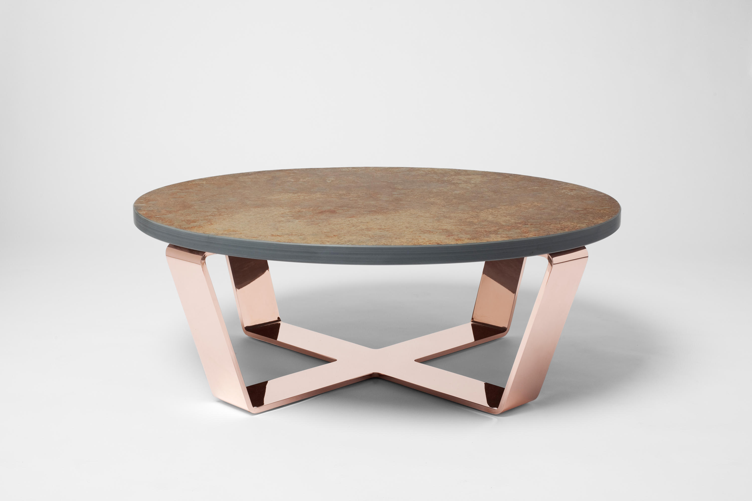 ... Slate Table Copper Brasil | Coffeetable By Edition Nikolas Kerl |  Coffee Tables
