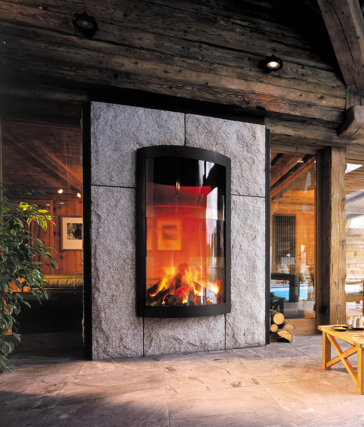 pictofocus 1450 double face wood fireplaces from focus. Black Bedroom Furniture Sets. Home Design Ideas