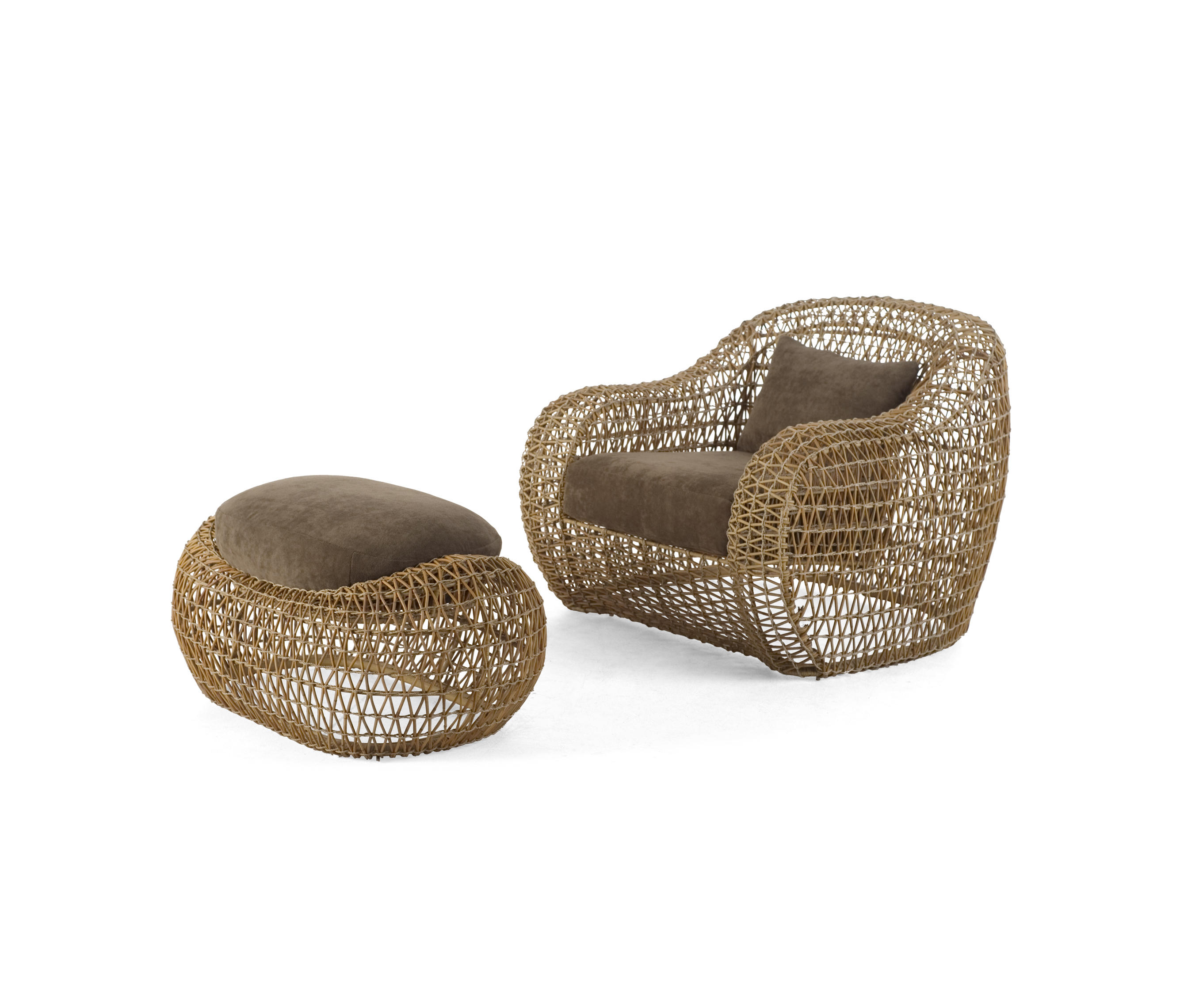 BALOU EASY ARMCHAIR WITH OTTOMAN - Garden armchairs from Kenneth ...