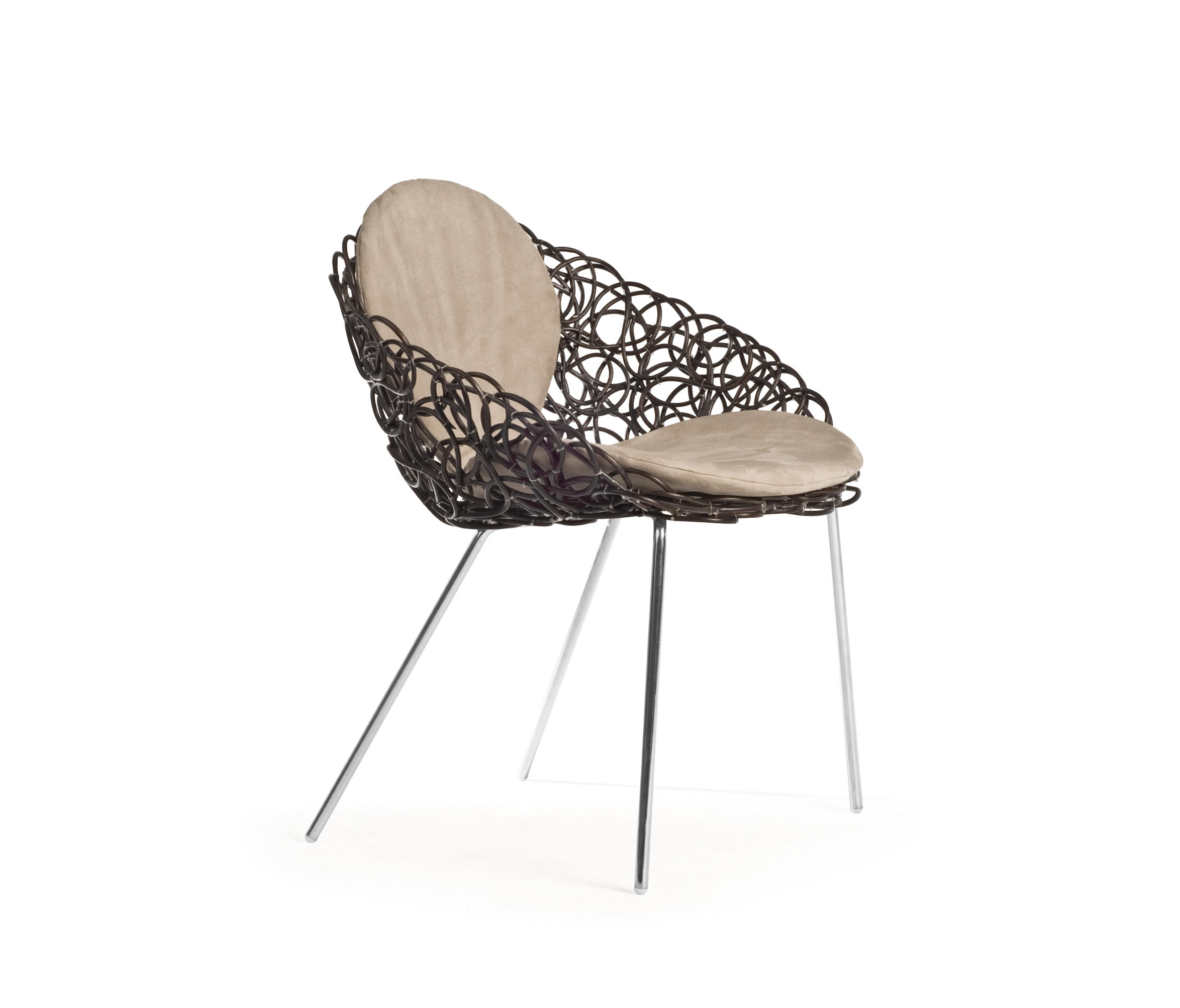 NOODLE ARMCHAIR Restaurant chairs from Kenneth Cobonpue