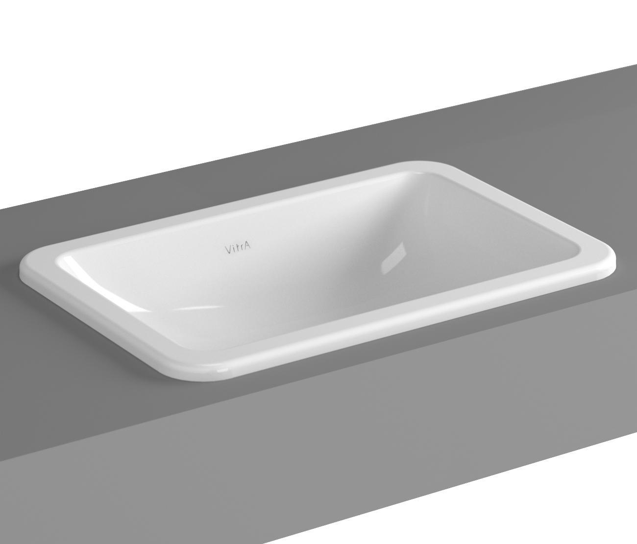s20 einbauwaschtisch 55 cm waschtische von vitra bad. Black Bedroom Furniture Sets. Home Design Ideas