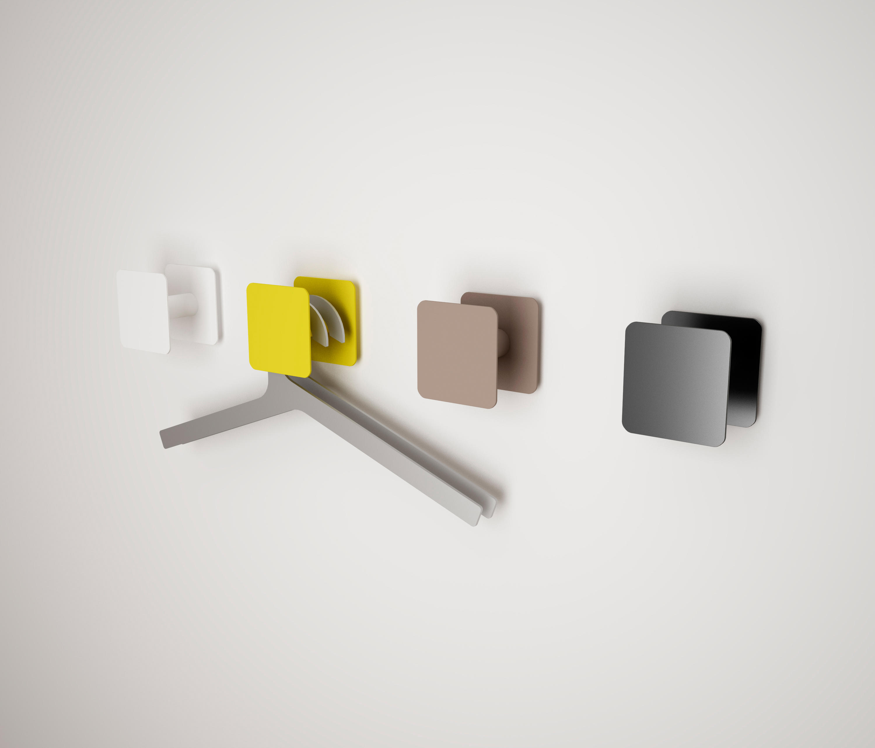 point o square coat hooks from systemtronic architonic. Black Bedroom Furniture Sets. Home Design Ideas