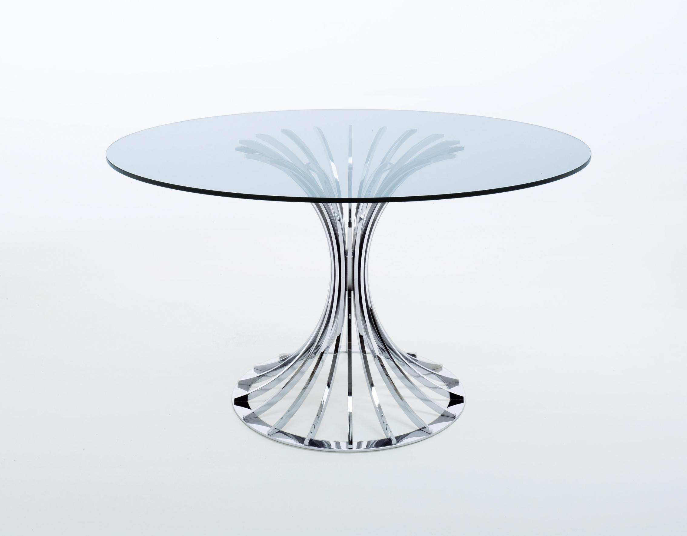 Tavoli Rotondi In Vetro Cristallo.Bellafonte Tavoli Pranzo Misura Emme Architonic