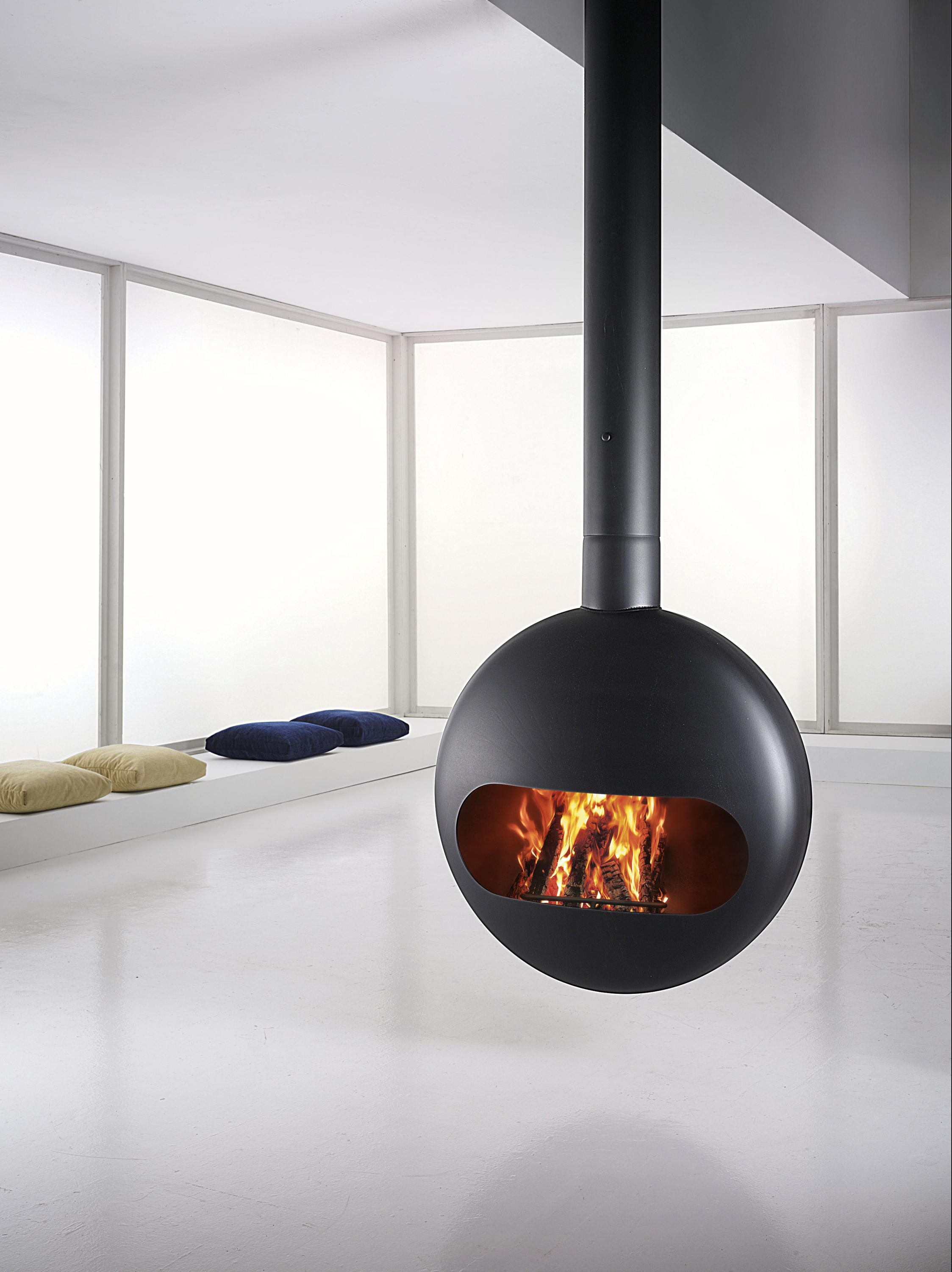 BUBBLE CEILING WOOD - Wood fireplaces from antrax it | Architonic