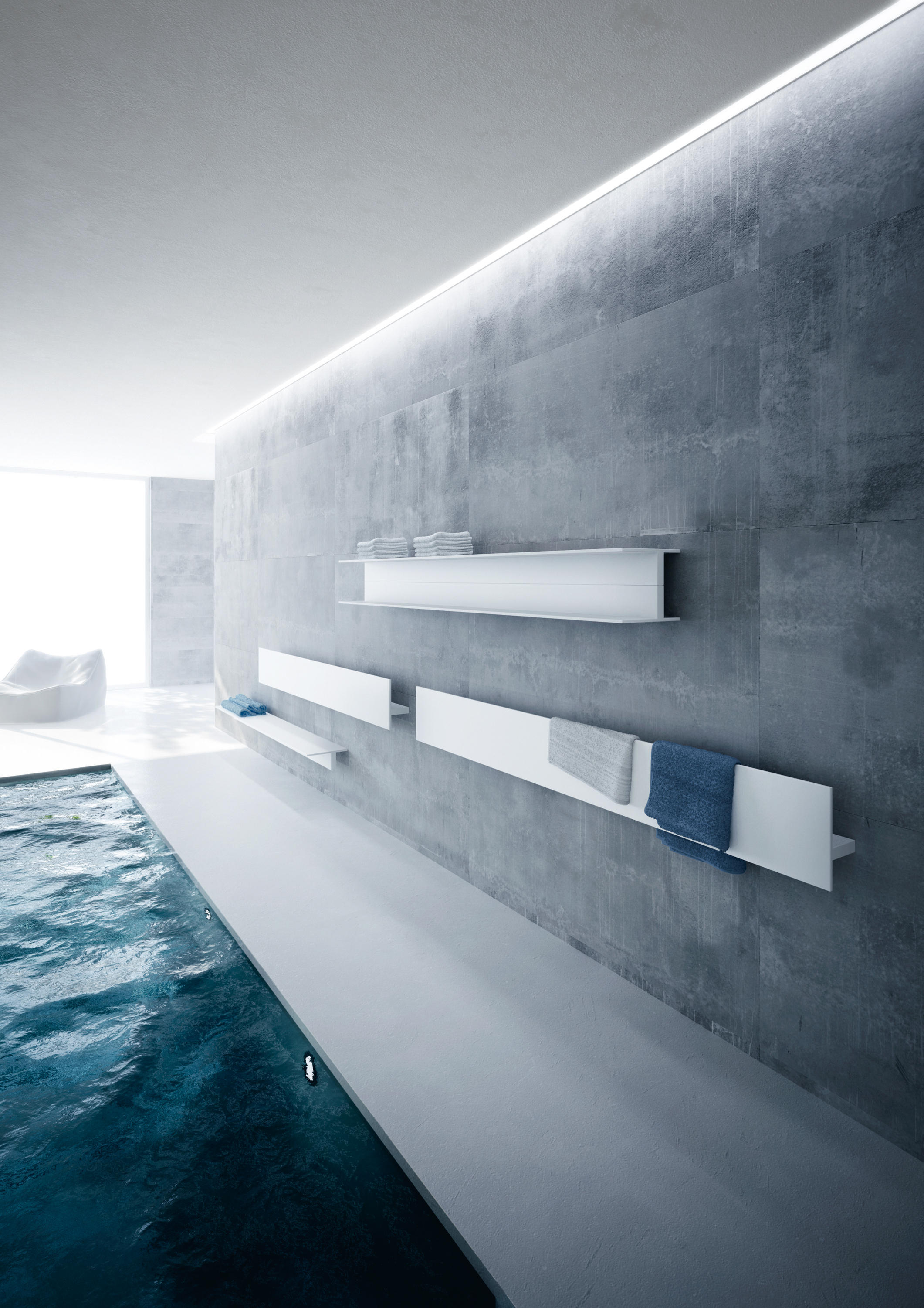 serie t bath shelving from antrax it architonic. Black Bedroom Furniture Sets. Home Design Ideas