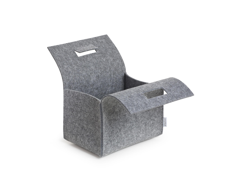 little porter filz tragebox beh lter boxen von greybax. Black Bedroom Furniture Sets. Home Design Ideas