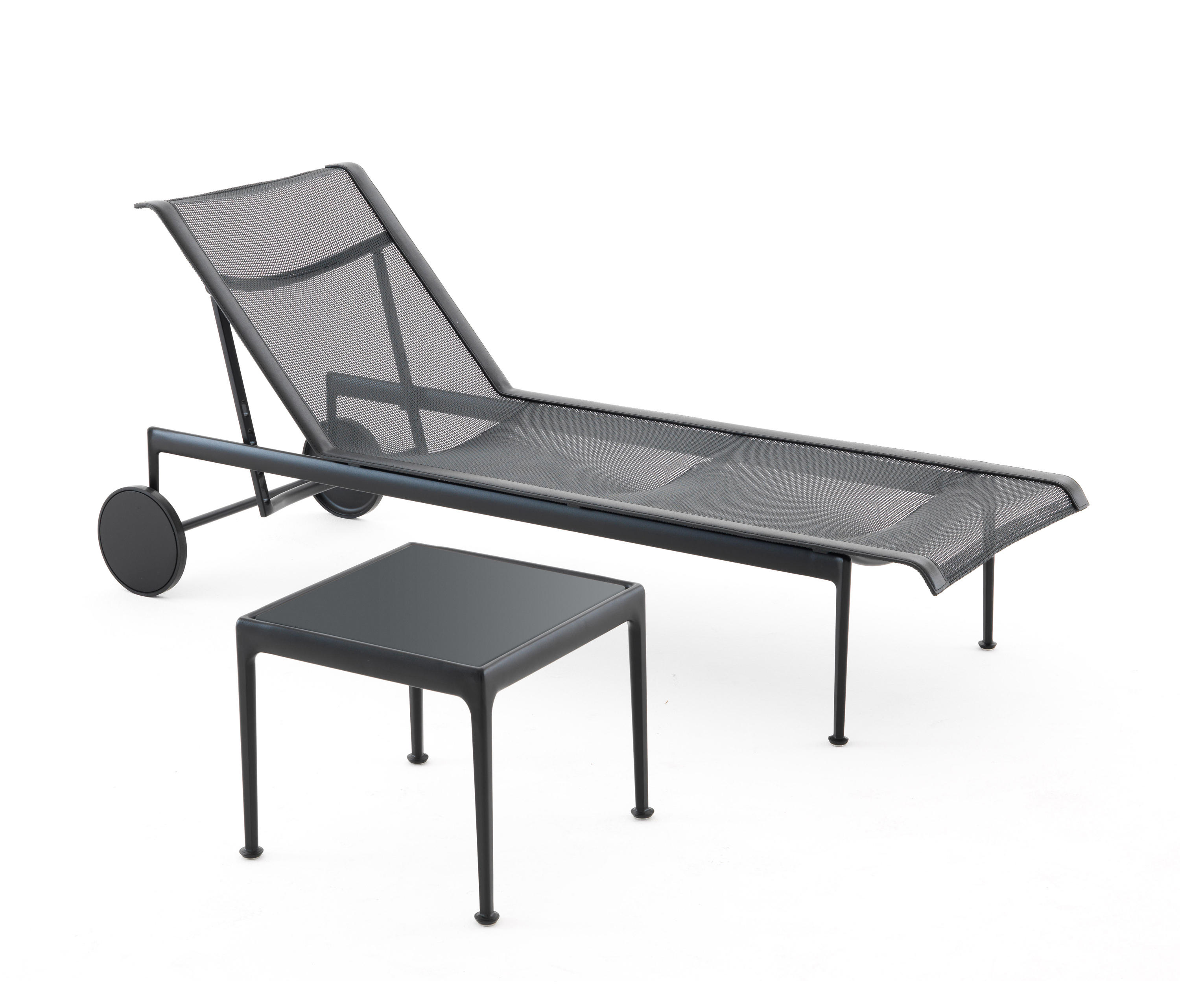 1966 adjustable chaise lounge black sun loungers from for Chaise lounge black