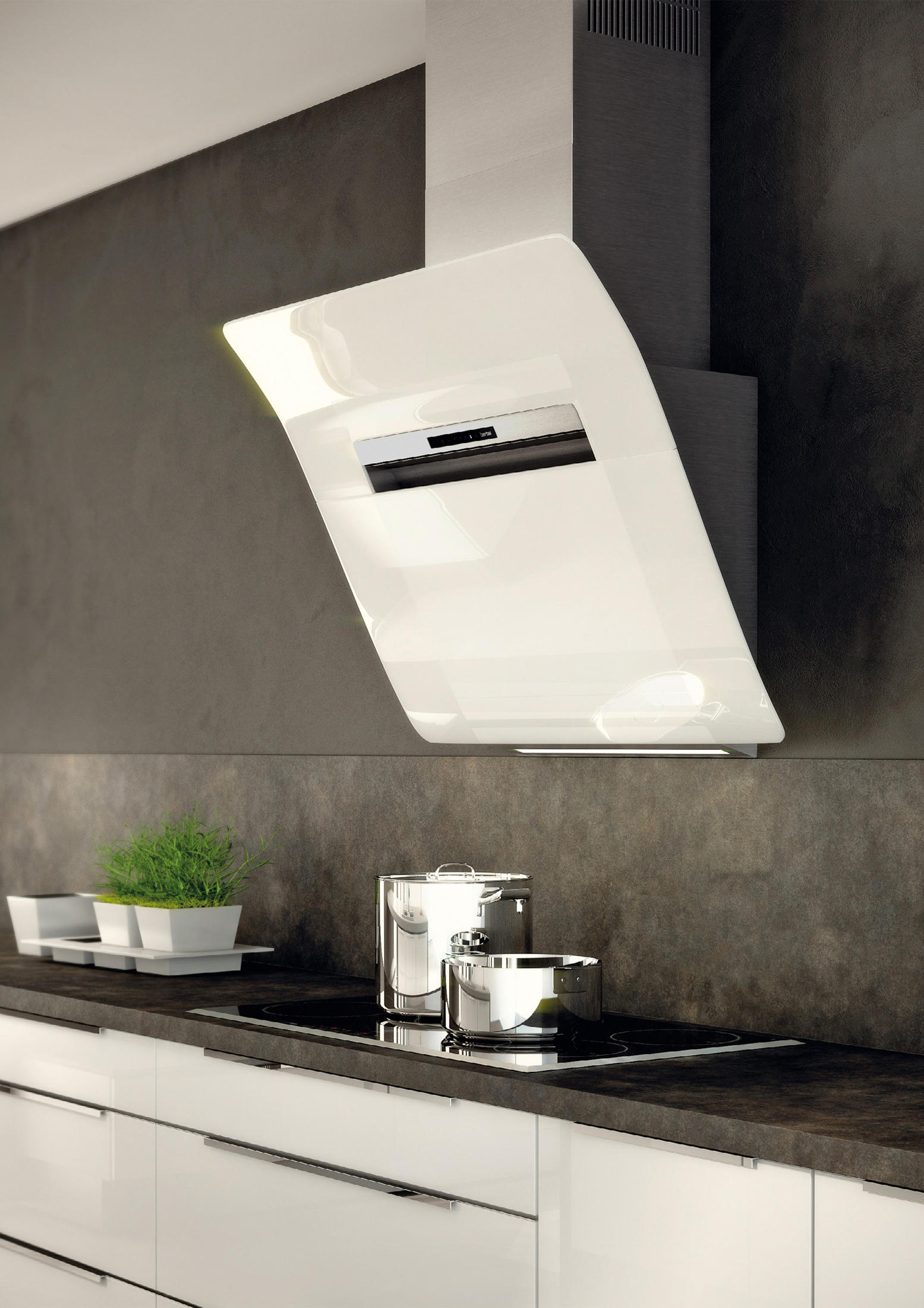 kopffreihaube bkh gl k chenabzugshauben von berbel architonic. Black Bedroom Furniture Sets. Home Design Ideas