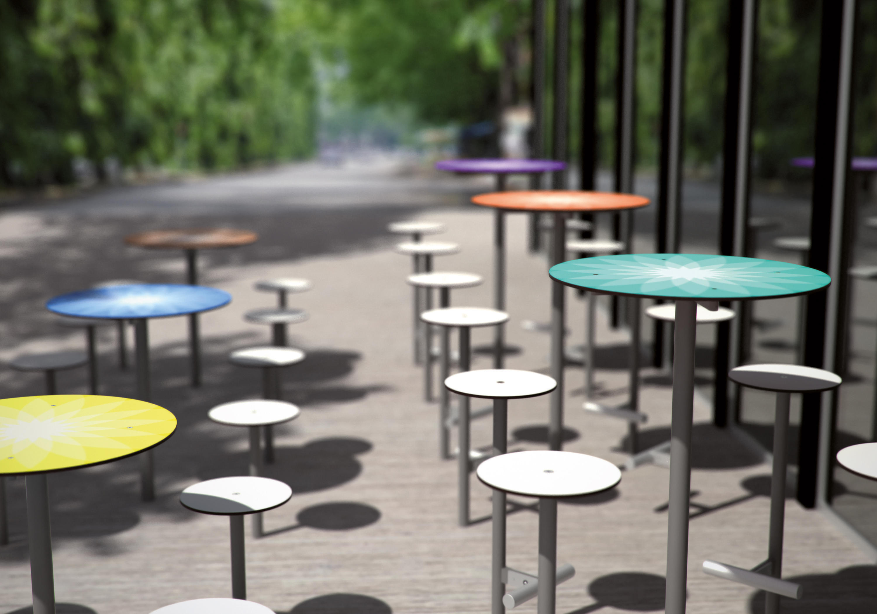 bistrot raised outdoor table bar tables from mmcit. Black Bedroom Furniture Sets. Home Design Ideas