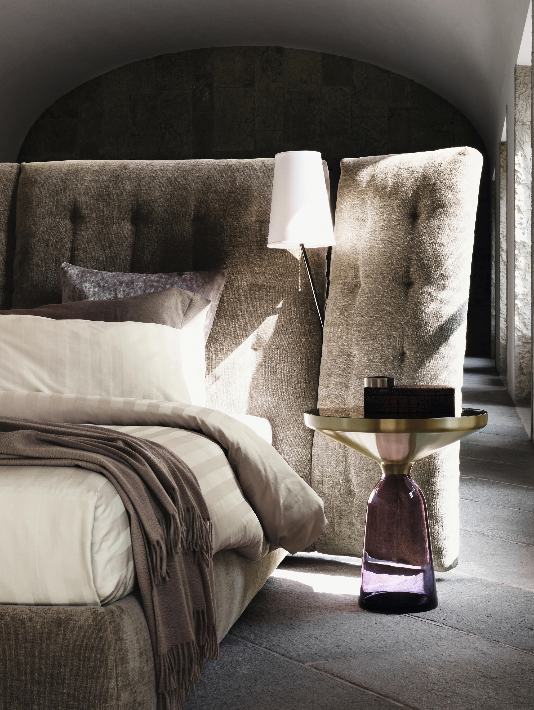 Bett Flou angle quilted headboard beds from flou architonic