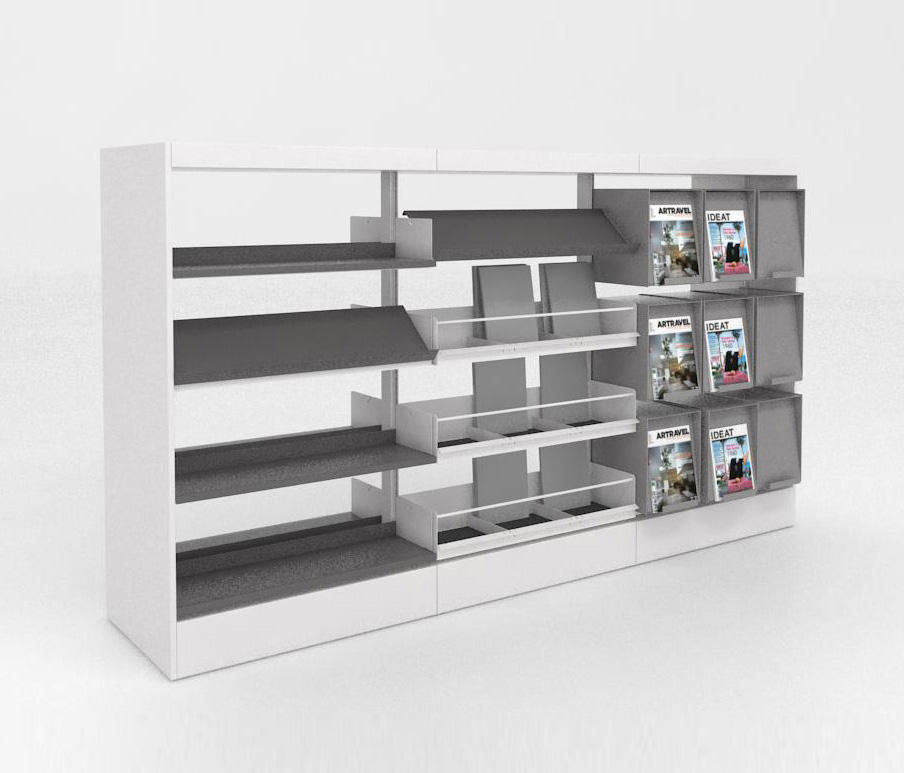 bk 3 estanter as para bibliotecas de idm coupechoux architonic. Black Bedroom Furniture Sets. Home Design Ideas