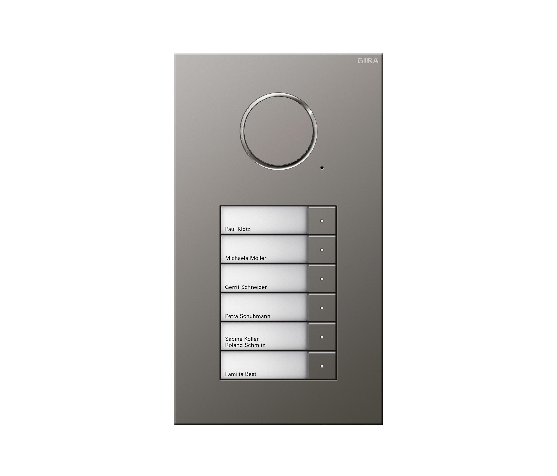 door station stainless steel 6 gang intercoms. Black Bedroom Furniture Sets. Home Design Ideas