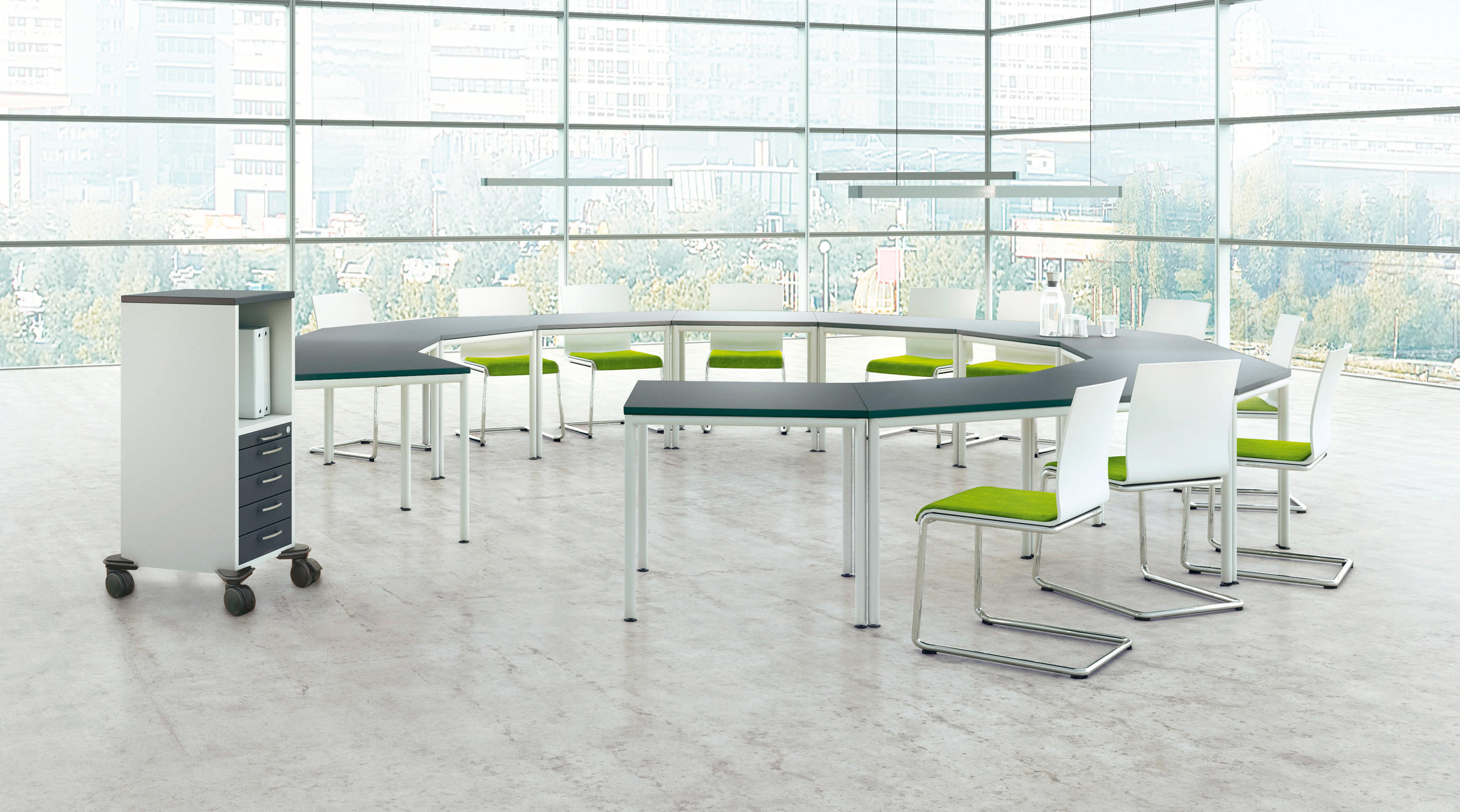 pontis meeting conference table systems from assmann. Black Bedroom Furniture Sets. Home Design Ideas