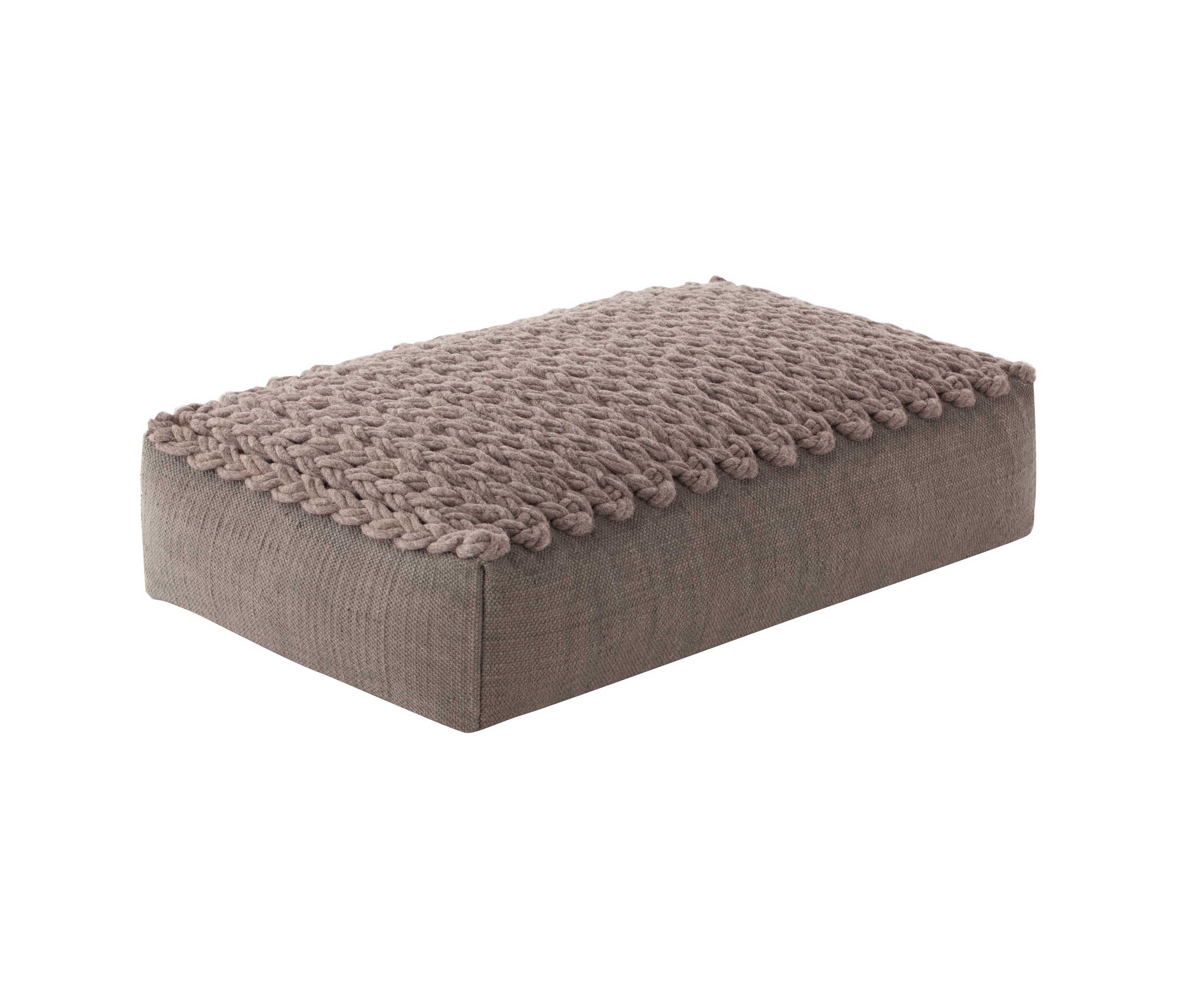 trenzas big pouf taupe 5 poufs from gan architonic. Black Bedroom Furniture Sets. Home Design Ideas