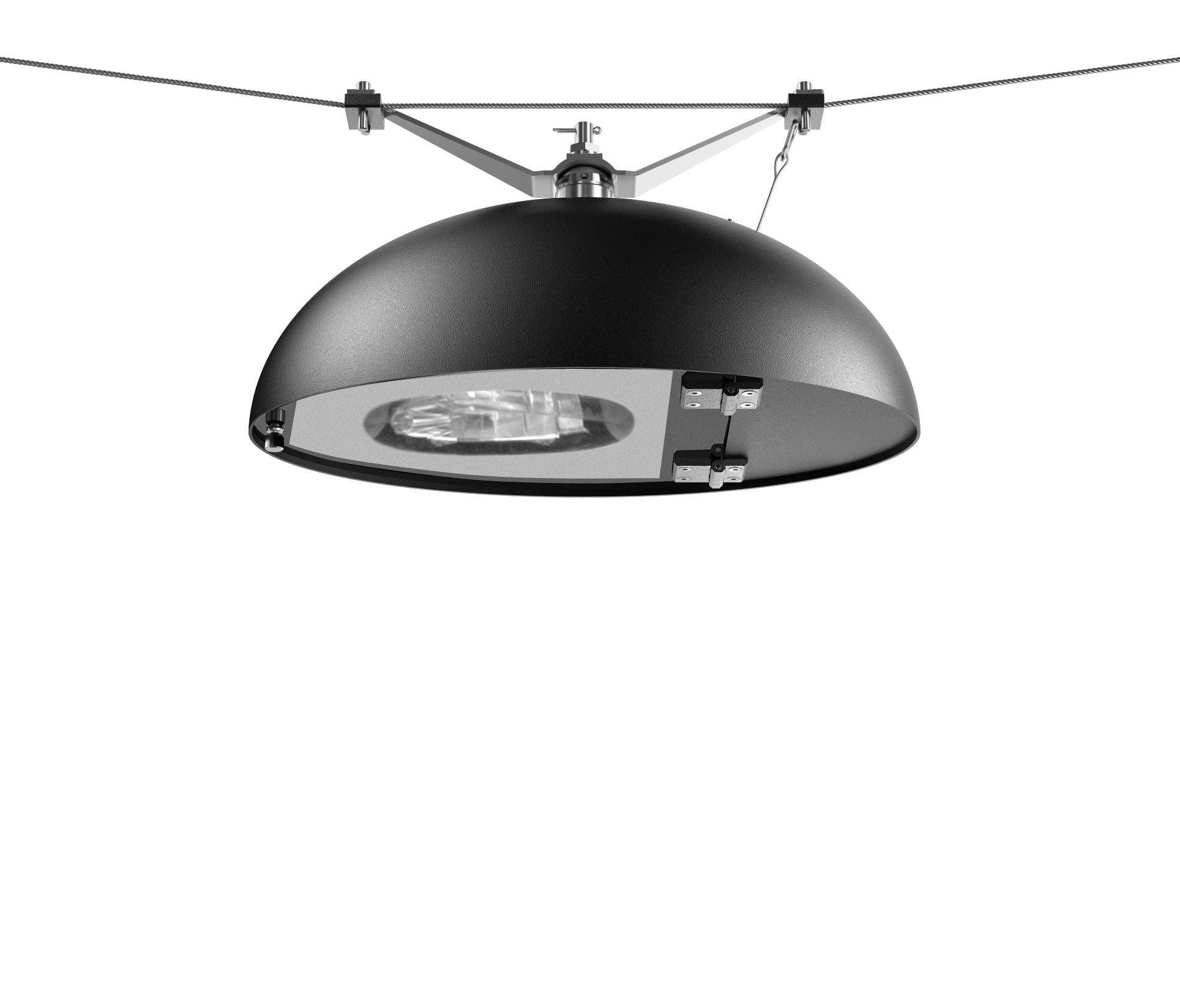 Canto led catenary suspended luminaire path lights from for Suspente luminaire
