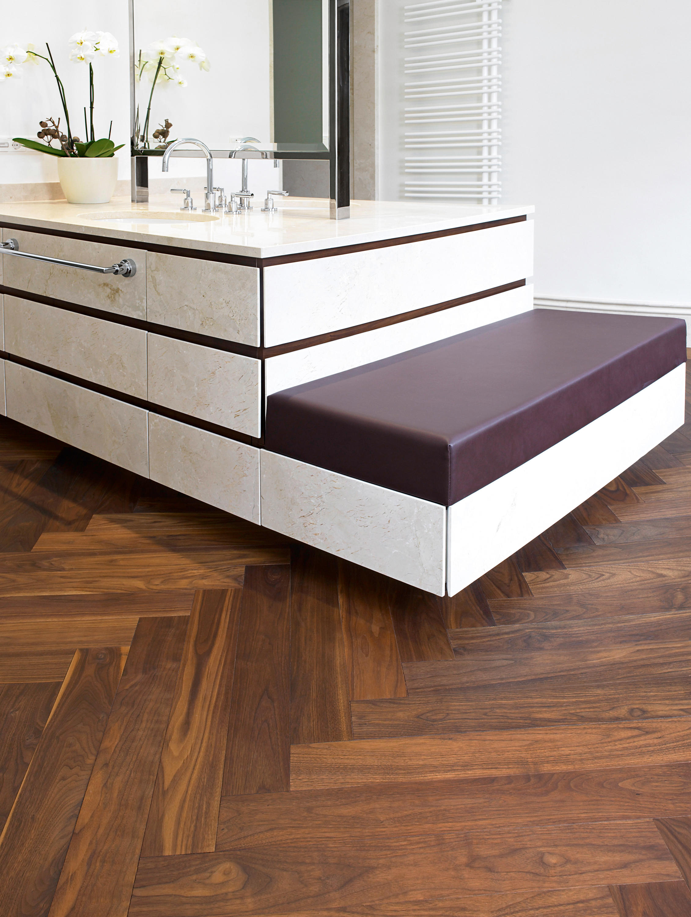 Walnut Usa Piccolino Sanded Oiled Natural By Mafi Wood Flooring