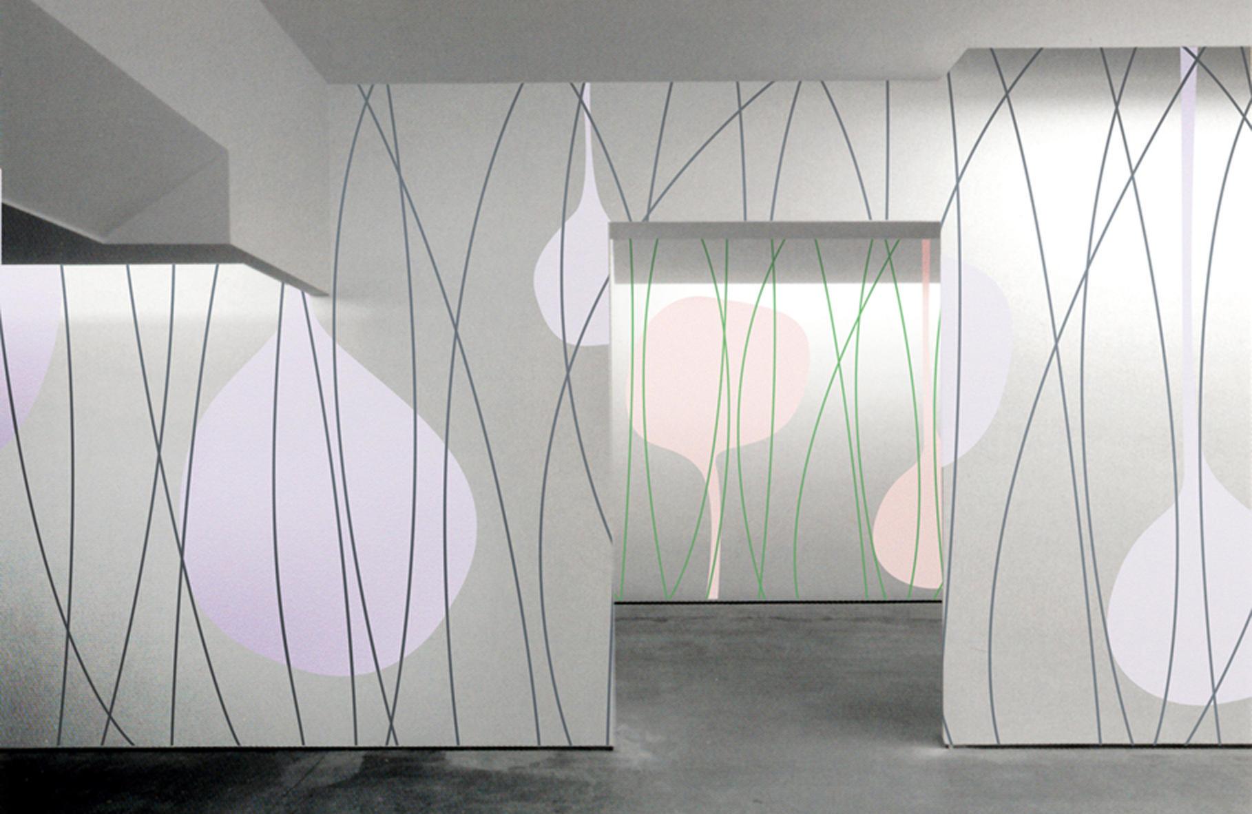 Pareti In Tela : Galleria d di interno moderno con pareti bianche e tela u foto