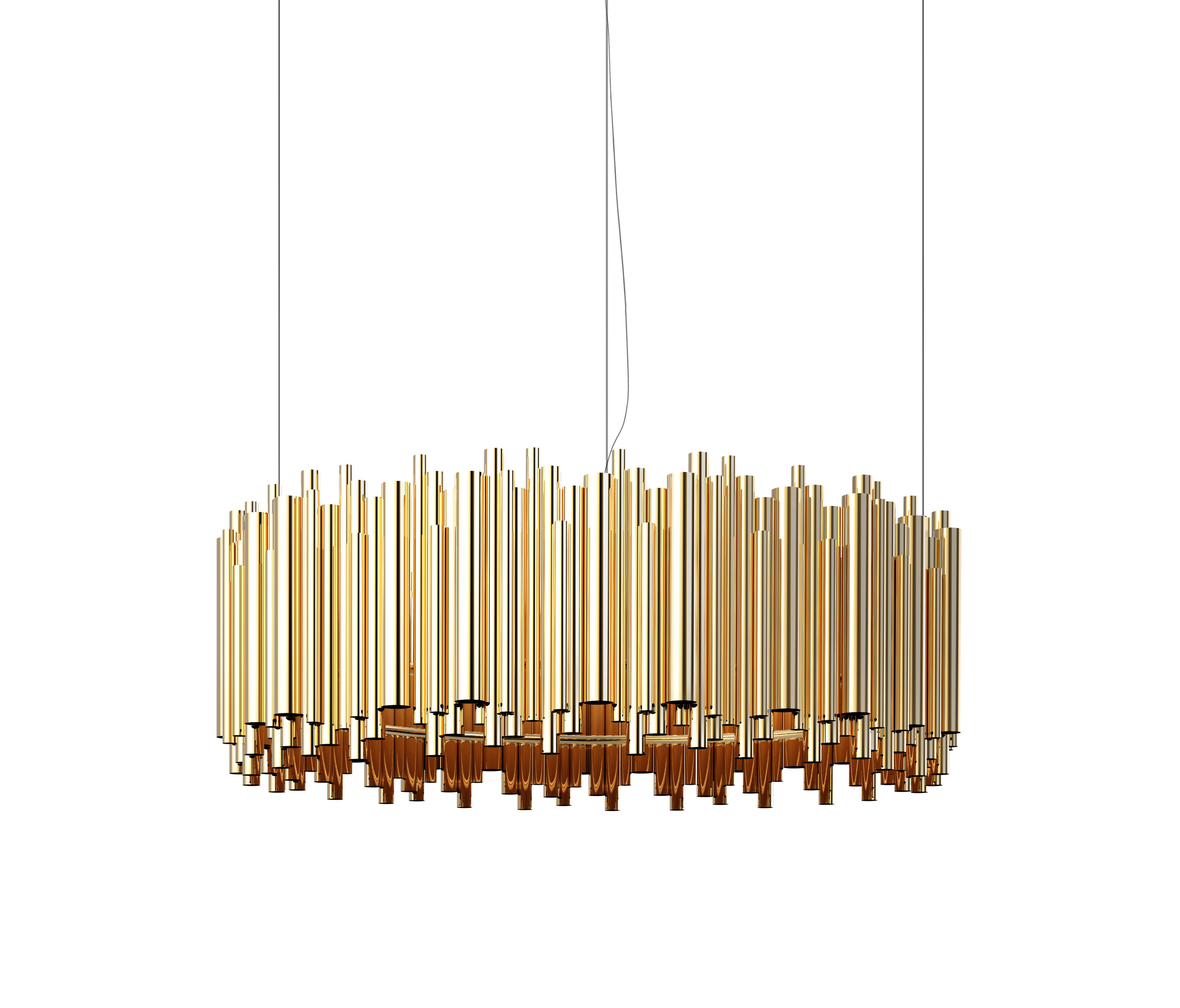 Brubeck suspension general lighting from delightfull for Suspension 4 lampes