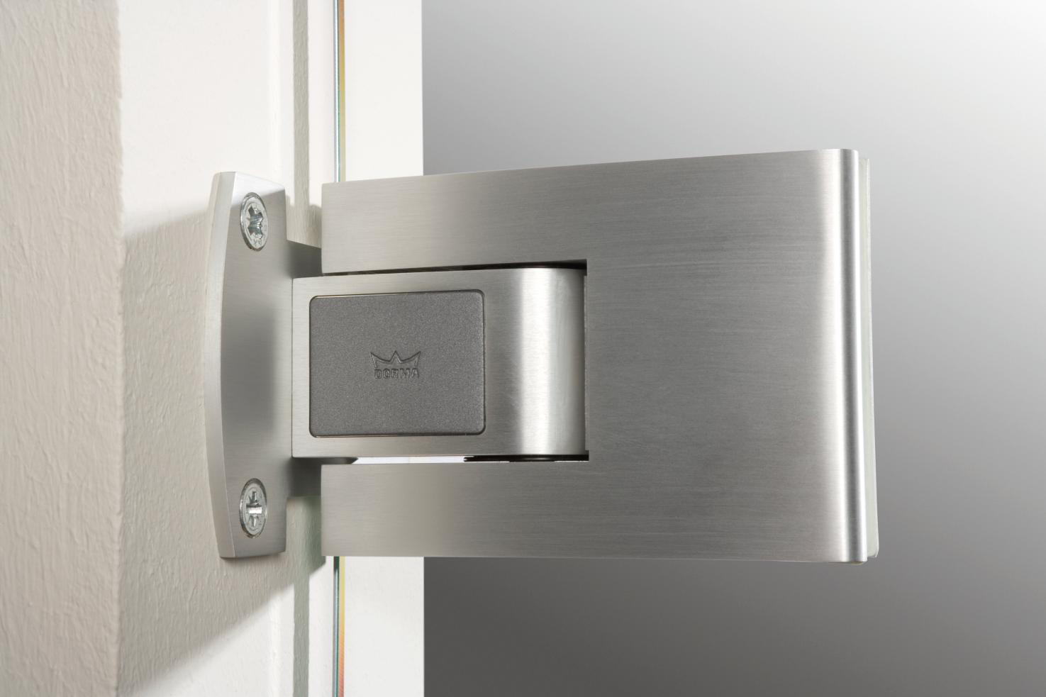 Glass to glass door hinges - Tensor Wall Mounted Hinges For Glass Doors Dormakaba