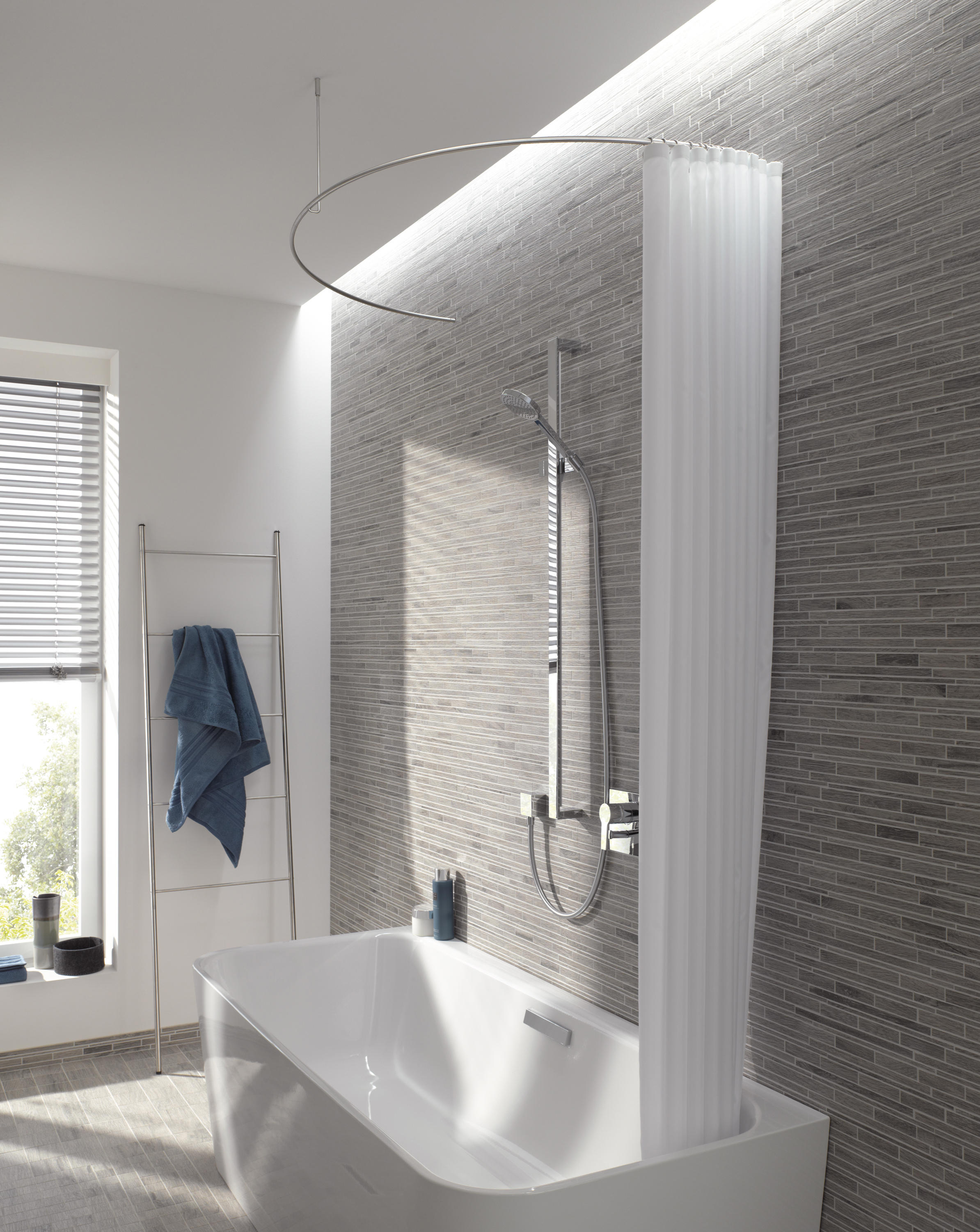 DUSCHVORHANGSTANGE DR 700 HD - Shower curtain rails from PHOS ...