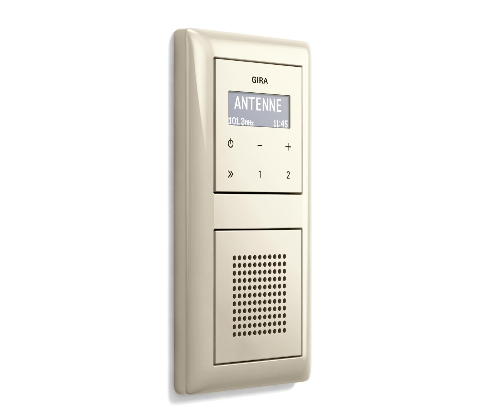 unterputz radio rds standard 55 radiosysteme von gira architonic. Black Bedroom Furniture Sets. Home Design Ideas
