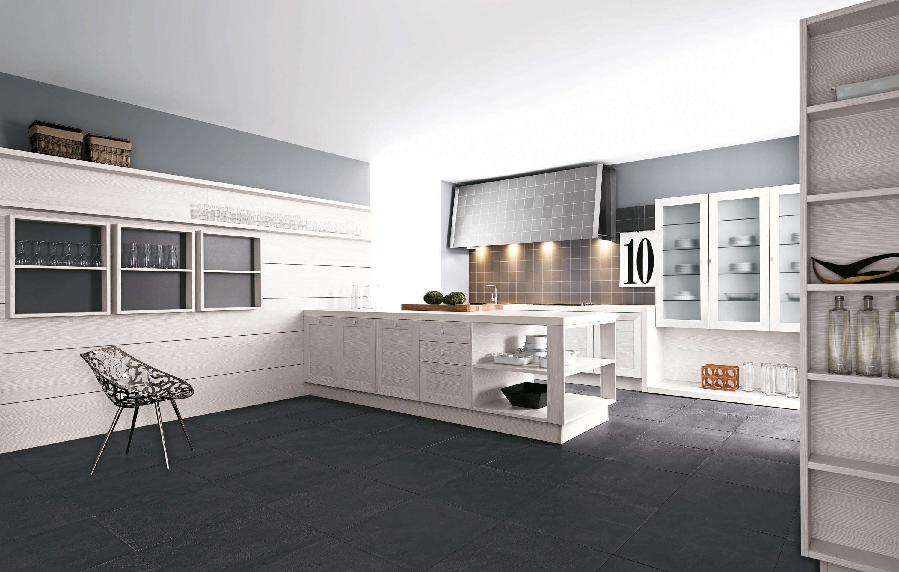 Noa composition 2 fitted kitchens from cesar for Map arredamenti