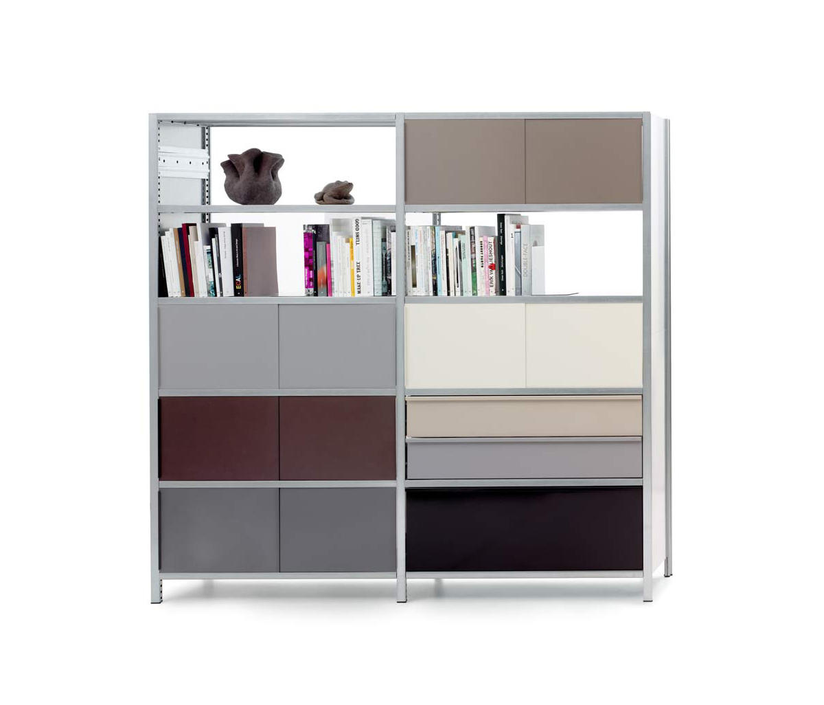 mf system regal mit schiebet ren b roregalsysteme von. Black Bedroom Furniture Sets. Home Design Ideas