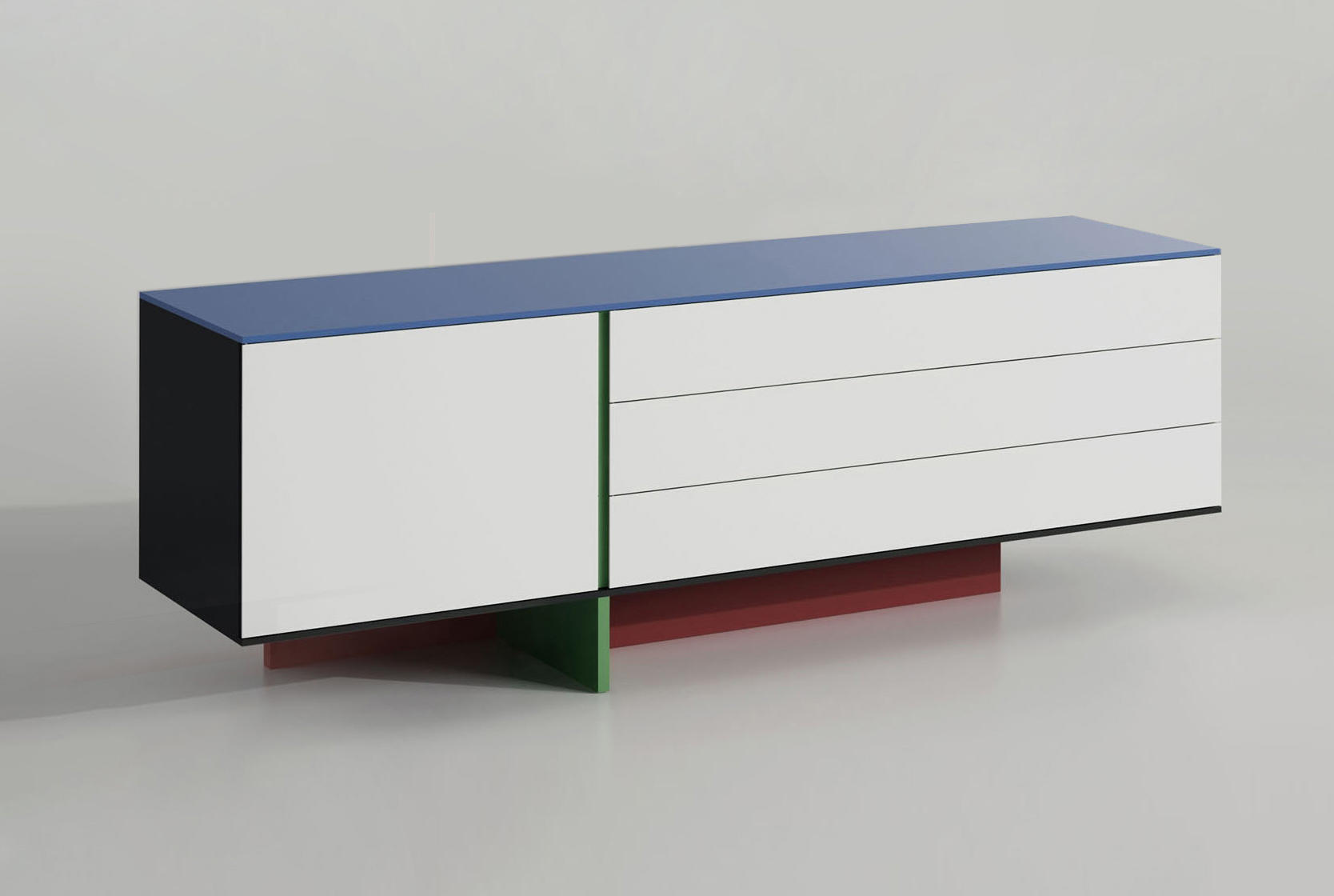La Credenza En Francais : Credenza alexandre hutch design by michel amar and les