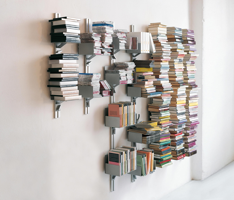 totem porta libri a parete scaffali aico design