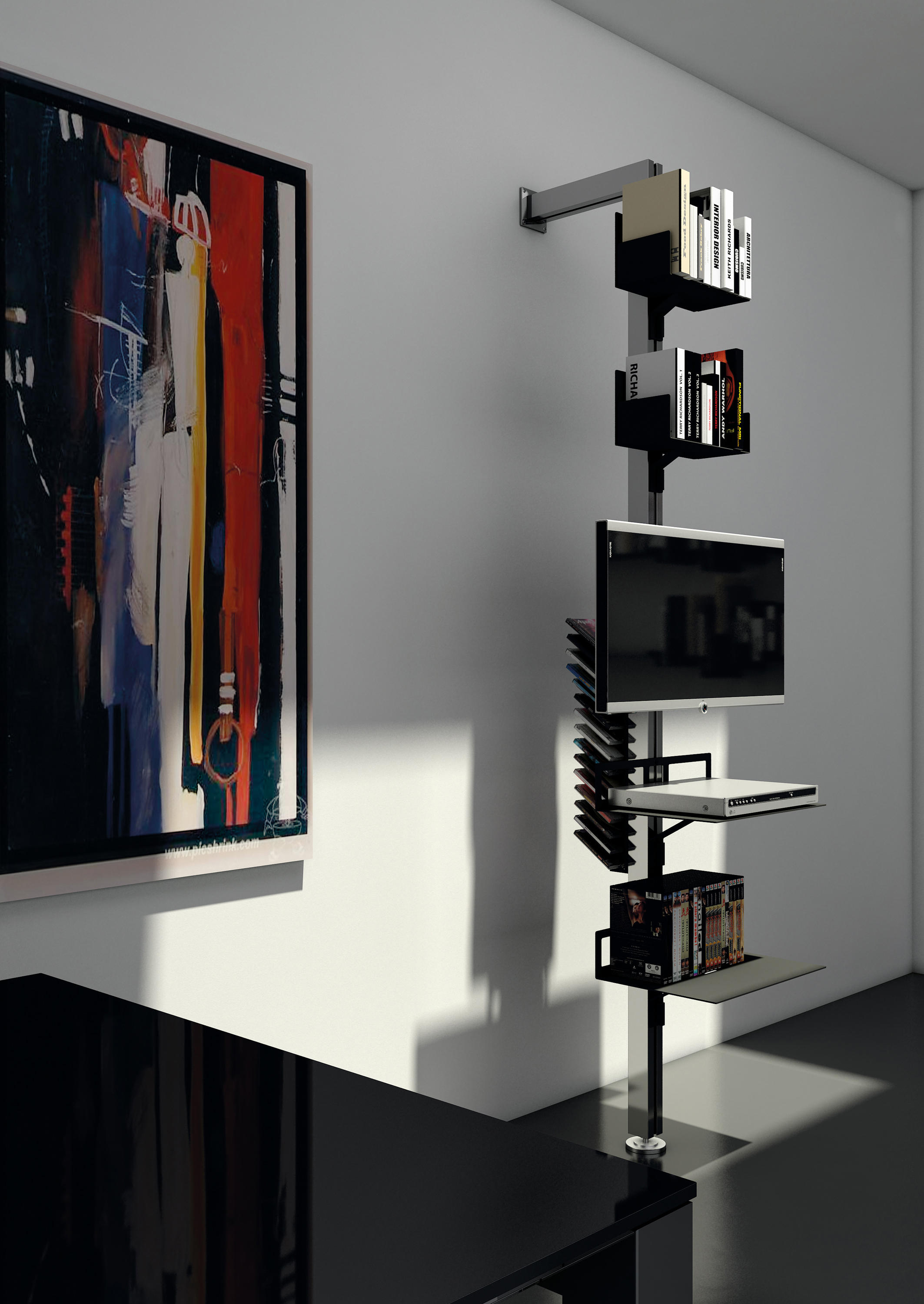 TOTEM | PORTA TV, DVD, DECODER - Supporti multimediali Aico Design ...