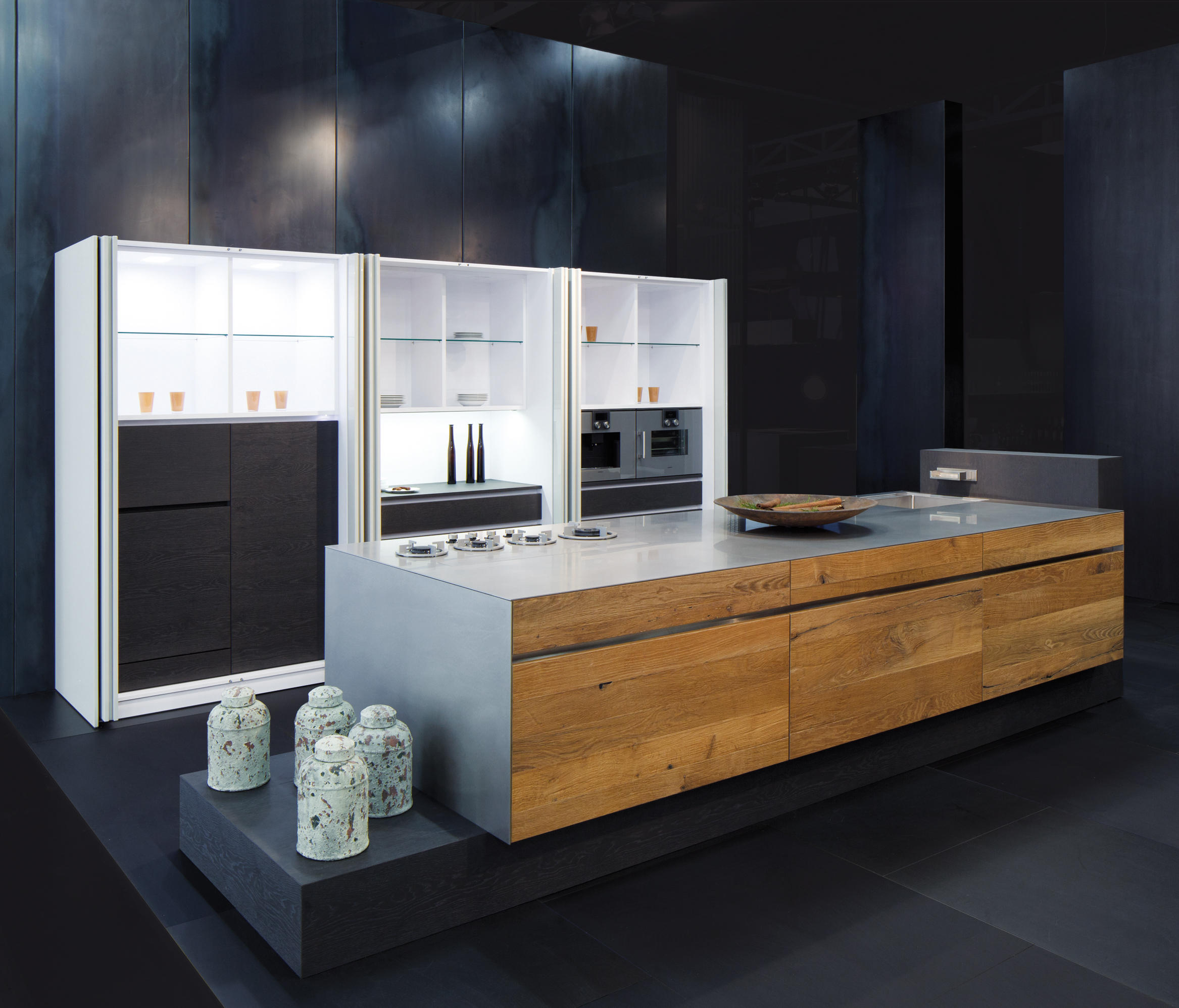 Embossed oak by eggersmann island kitchens