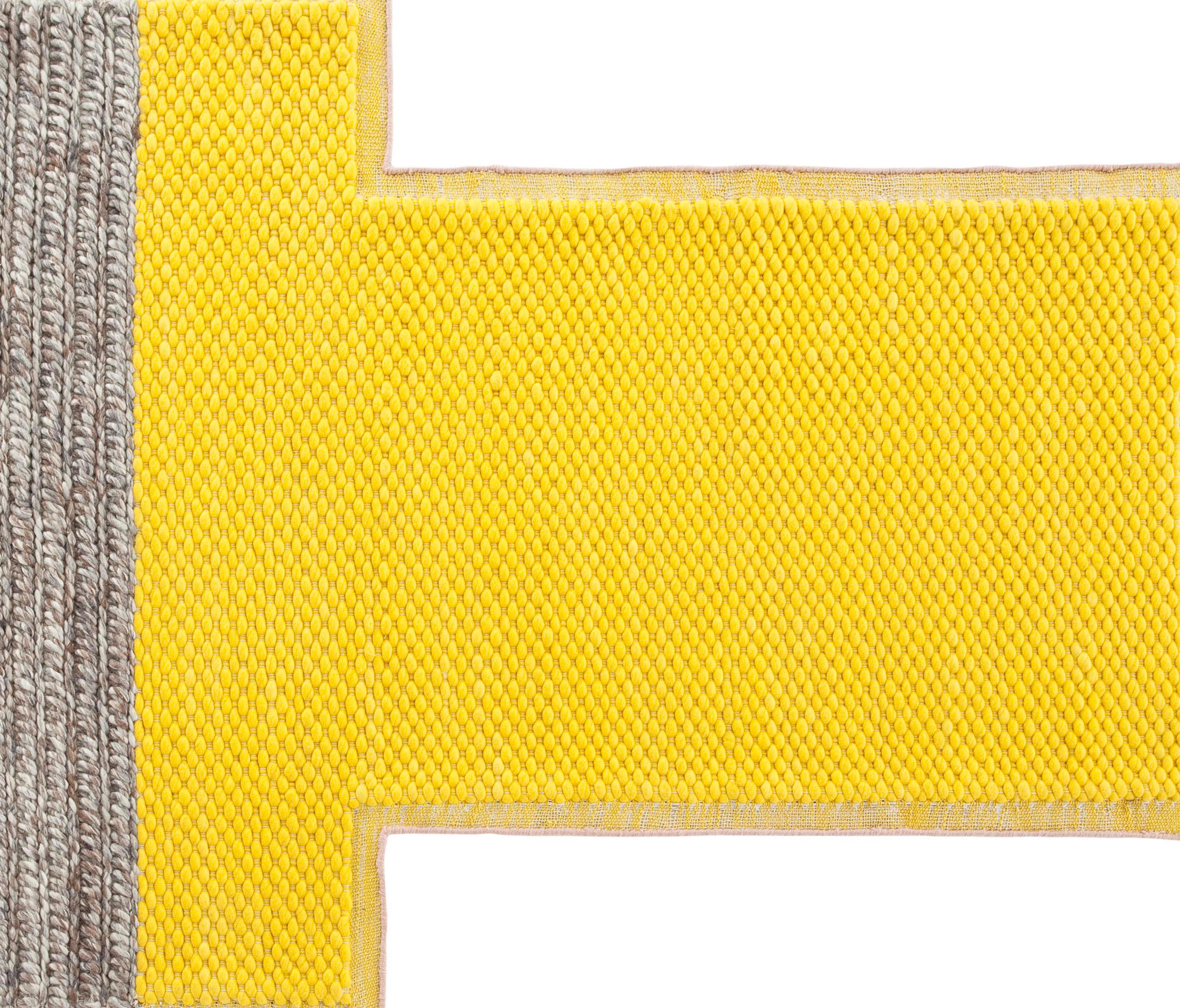 MANGAS SPACE RUG PLAIT YELLOW 1 - Rugs From GAN