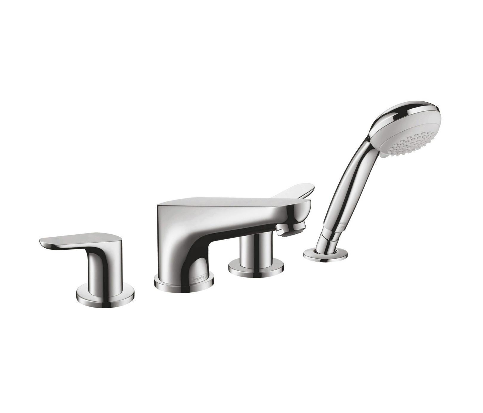 hansgrohe focus 4 hole rim mounted bath mixer bath taps. Black Bedroom Furniture Sets. Home Design Ideas