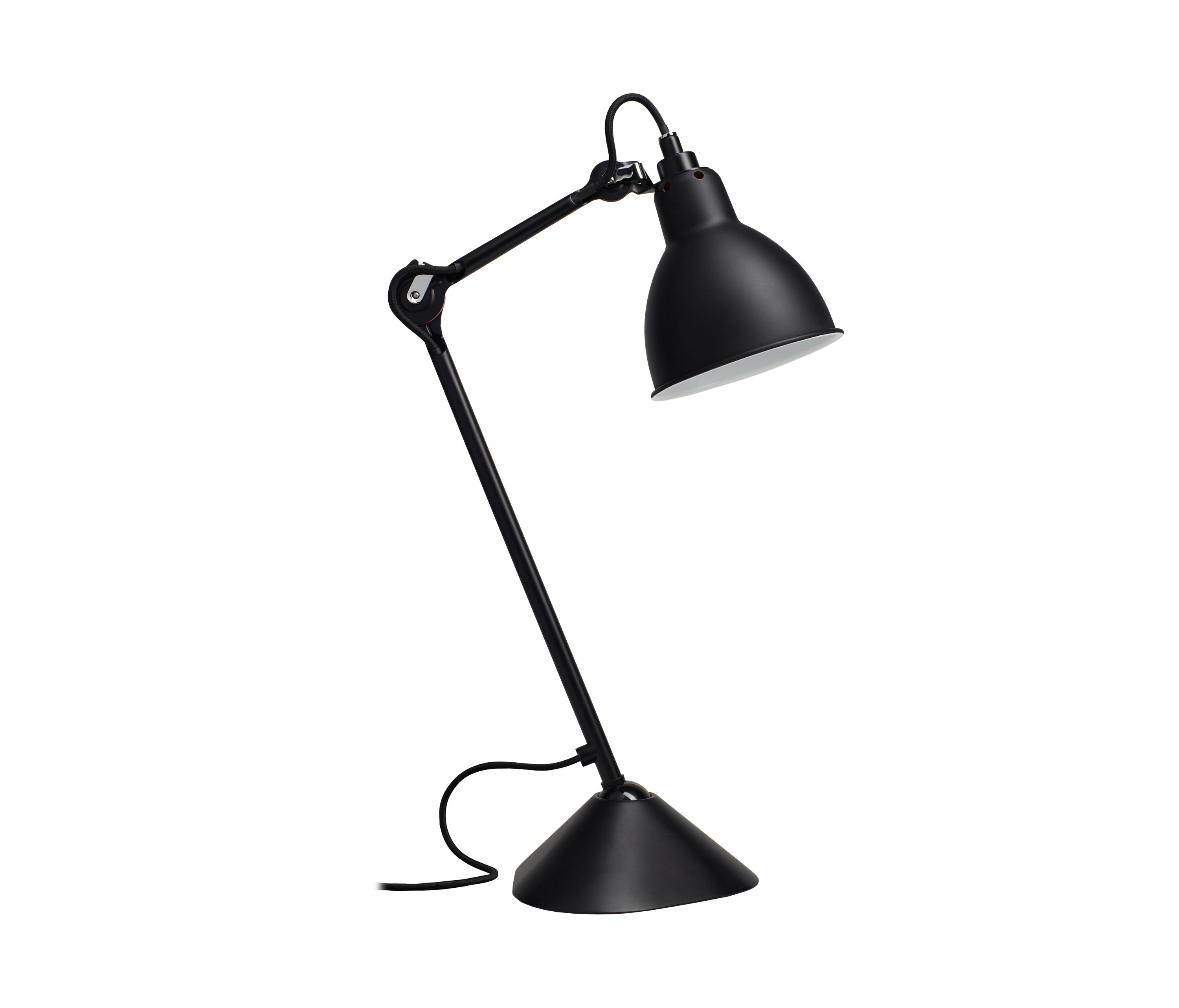 lampe gras n 205 black table lights from dcw ditions. Black Bedroom Furniture Sets. Home Design Ideas