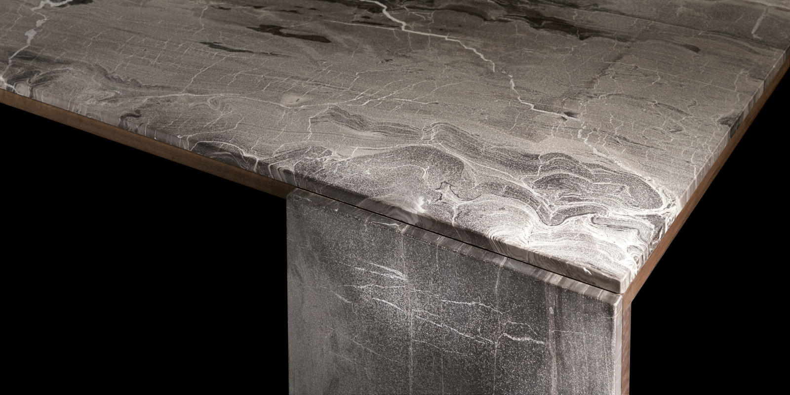 Ly Table Stone Wood Dining Tables From Henge Architonic